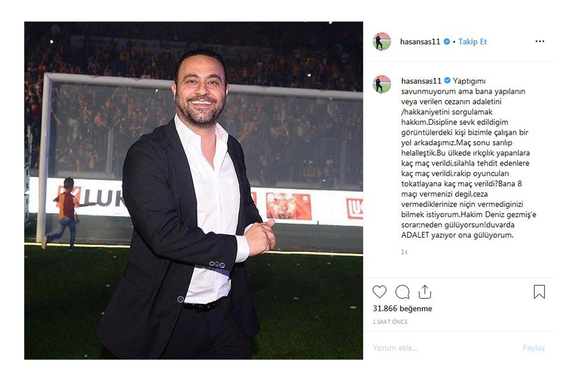 Hasan Şaş, Instagram hesabından Deniz Gezmiş'in sözünü paylaştı