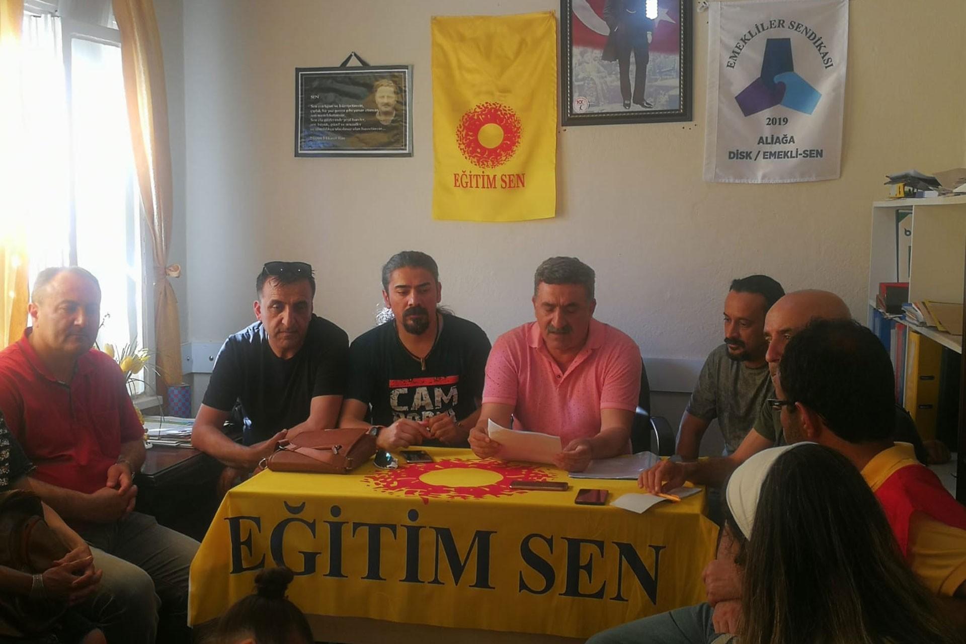 Eğitim Sen İzmir 2 Nolu Şube, Alp Kuyumcu'ya yönelik saldırıları kınadı