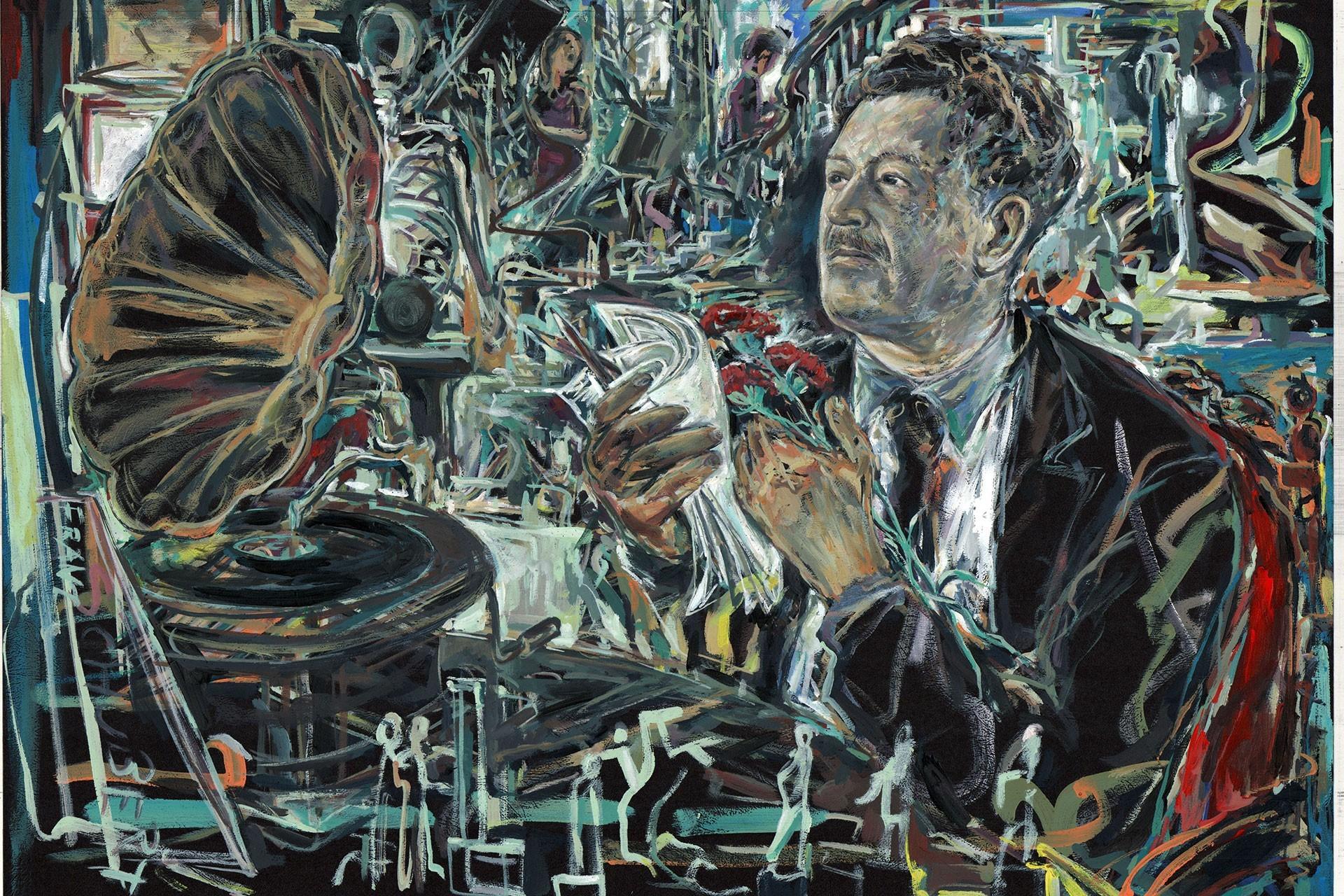 Ressam Haydar Özay'ın tablosu