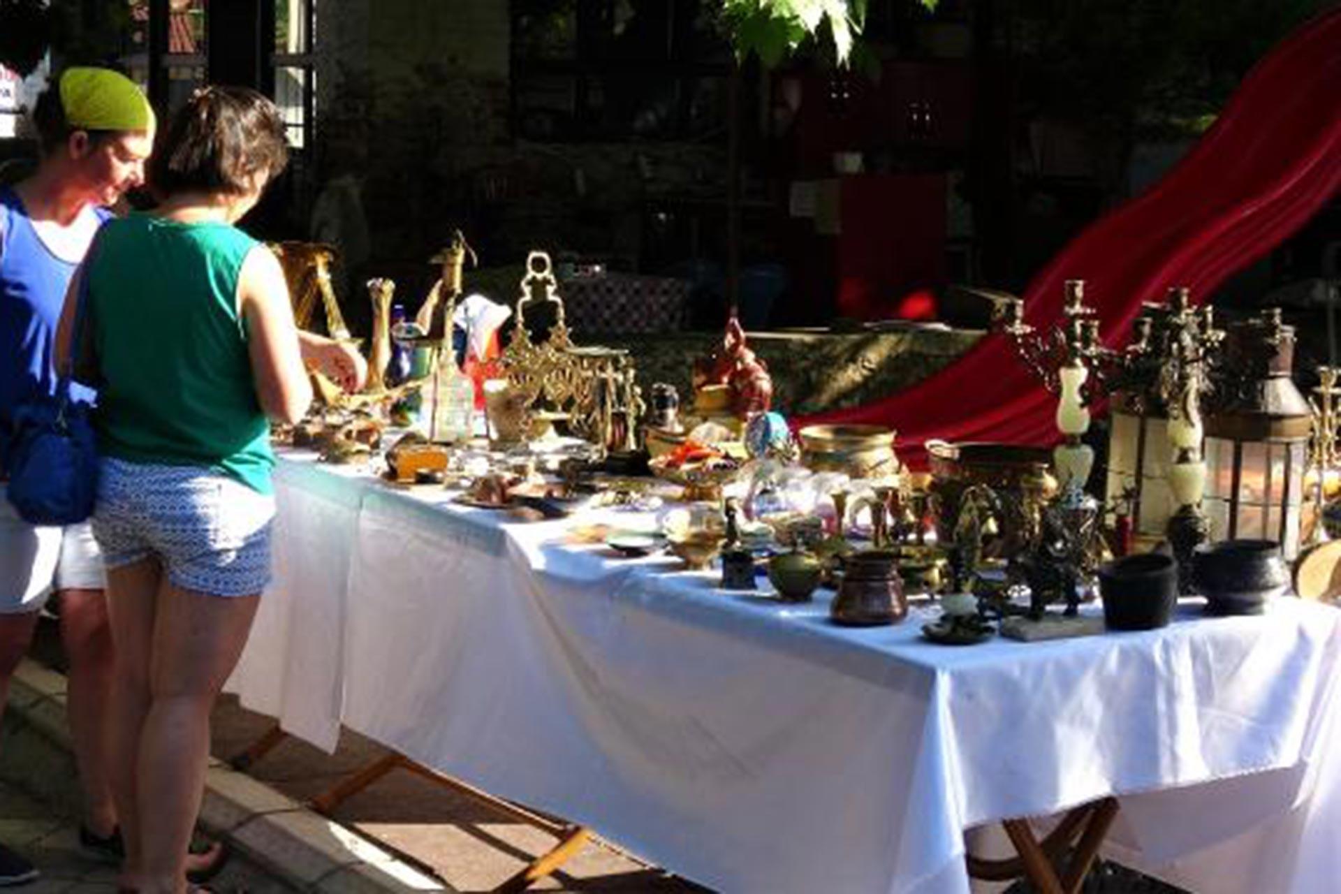 Çamlıbel'de antik pazar kuruldu