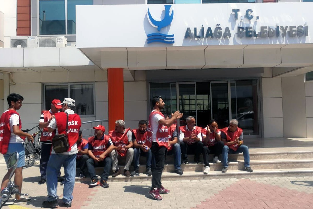 Aliağa belediyesinden Tüm Bel-Sen üyelerine mobbing