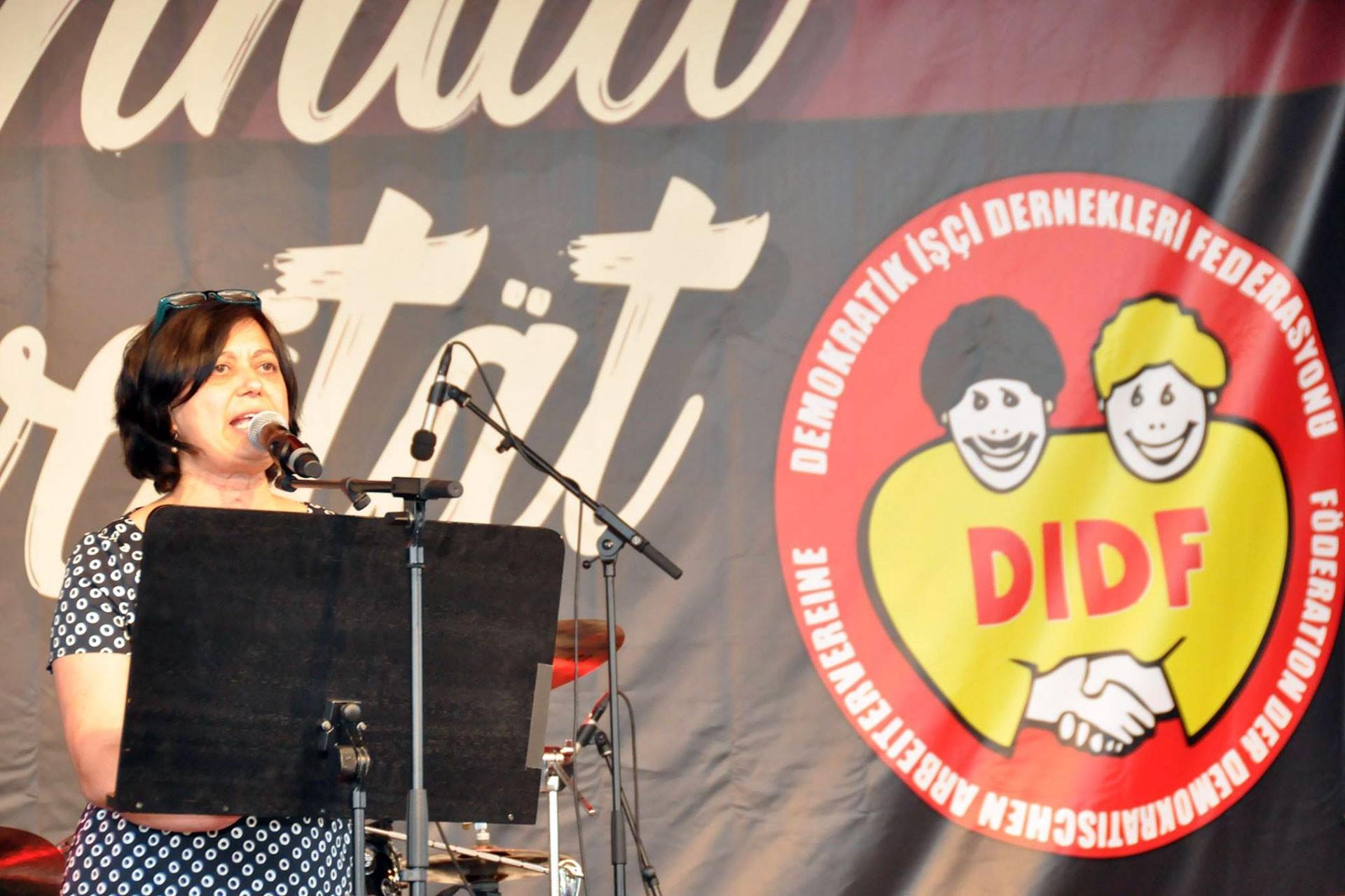 DİDF Genel Başkanı Zeynep Sefariye Ekşi