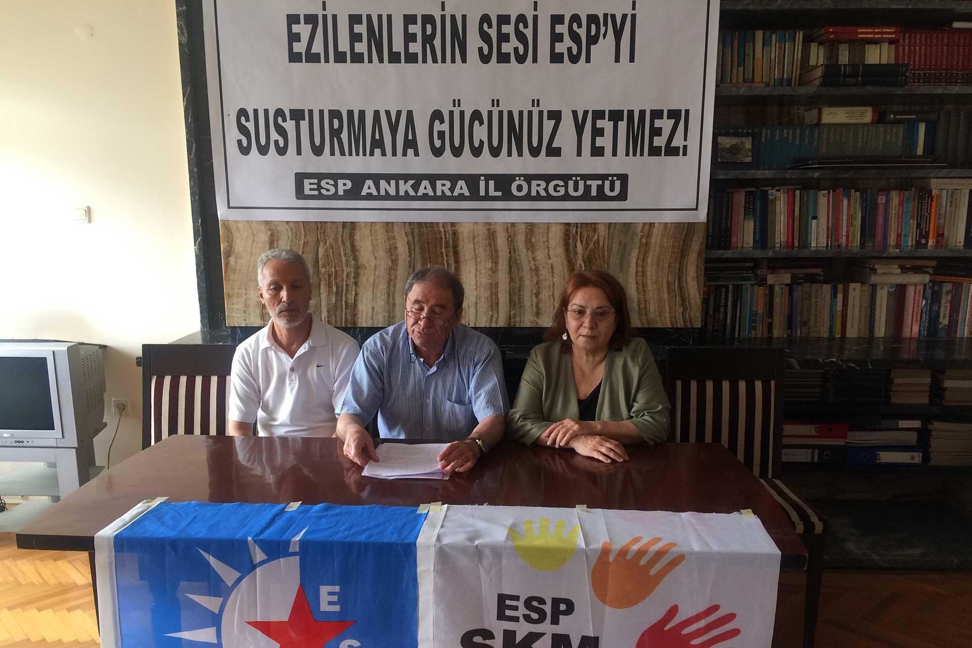 ESP: Demokrasi güçlerini gözaltındakilerle dayanışmaya çağırıyoruz