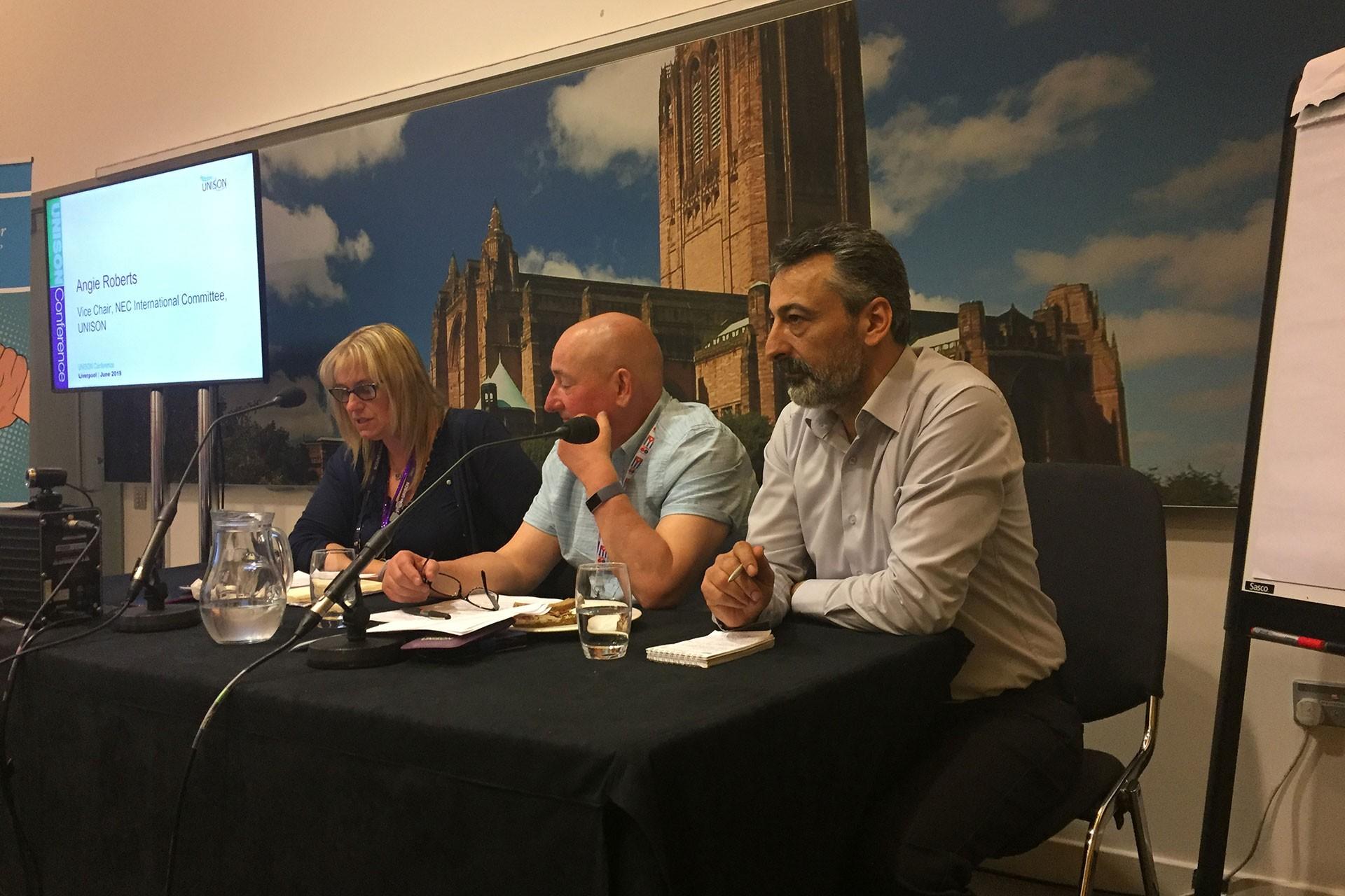 UNISON Konferansı'nda Türkiye'deki baskılar konuşuldu