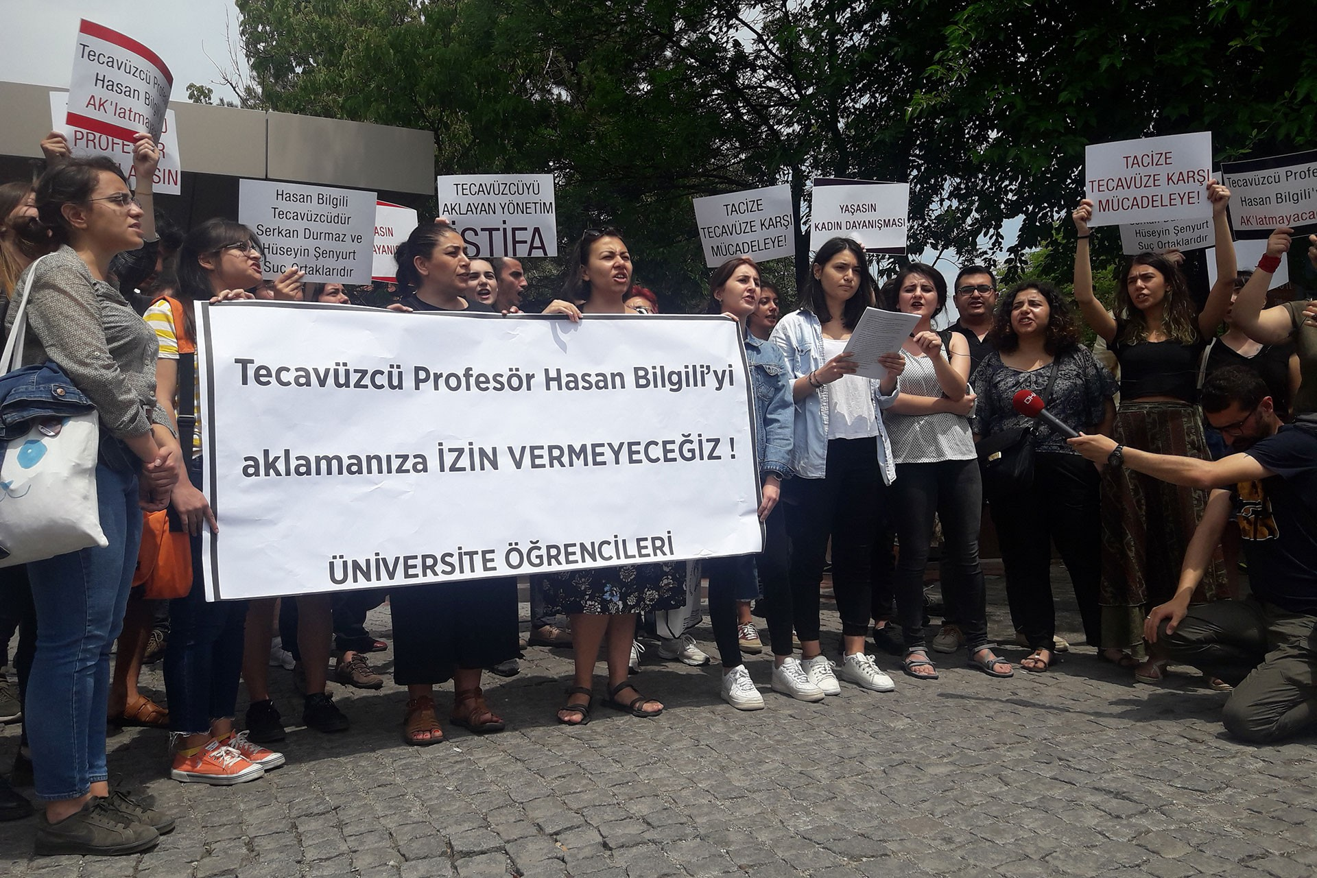 Öğrencilerden tecavüz faili Hasan Bilgili'nin serbest bırakılmasına tepki
