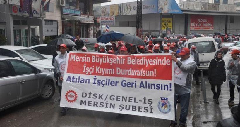 Genel-İş Sendikası atılan işçiler için yürüdü