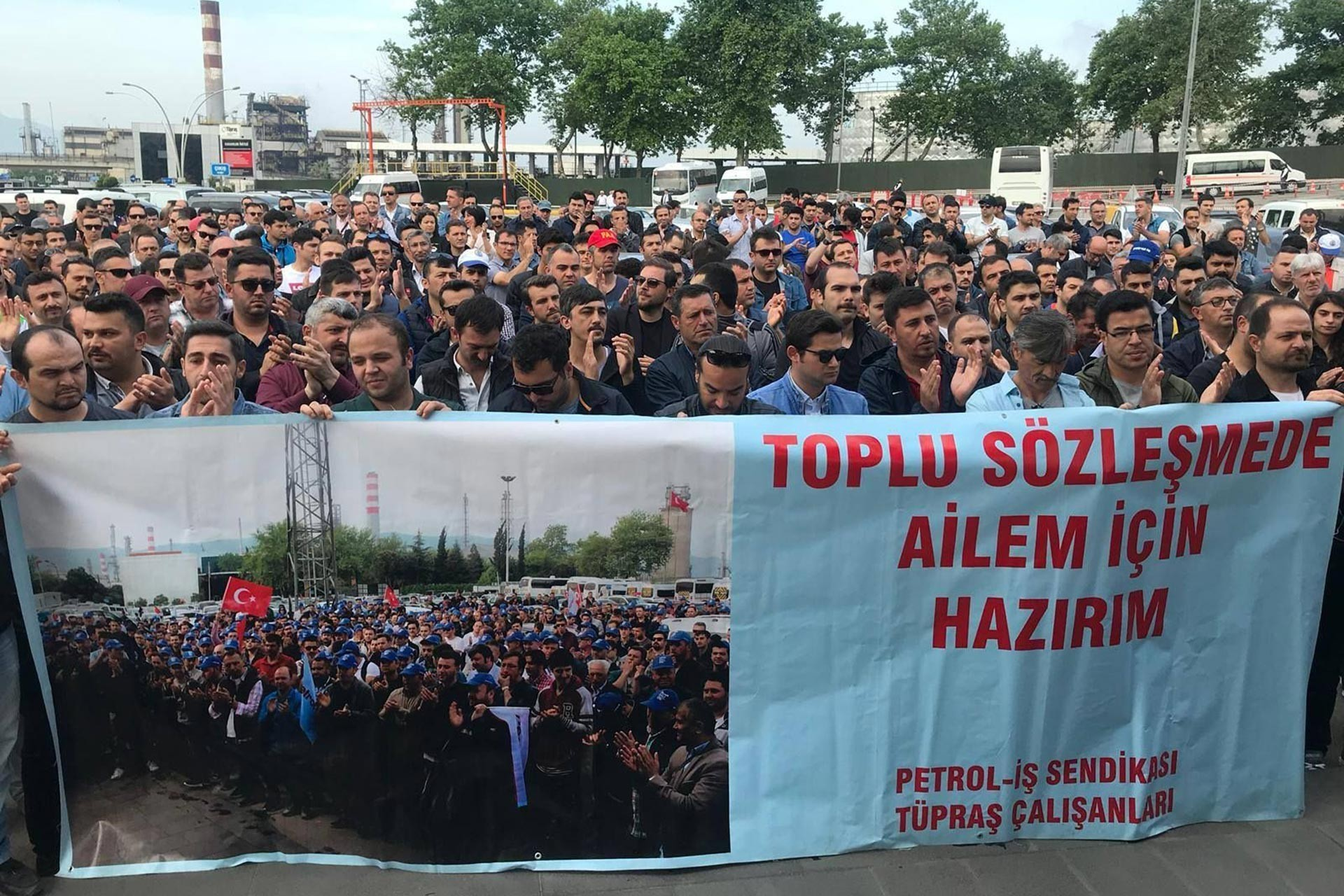 TÜPRAŞ workers closure in refineries in Batman, Kırıkkale, Kocaeli and Aliağa