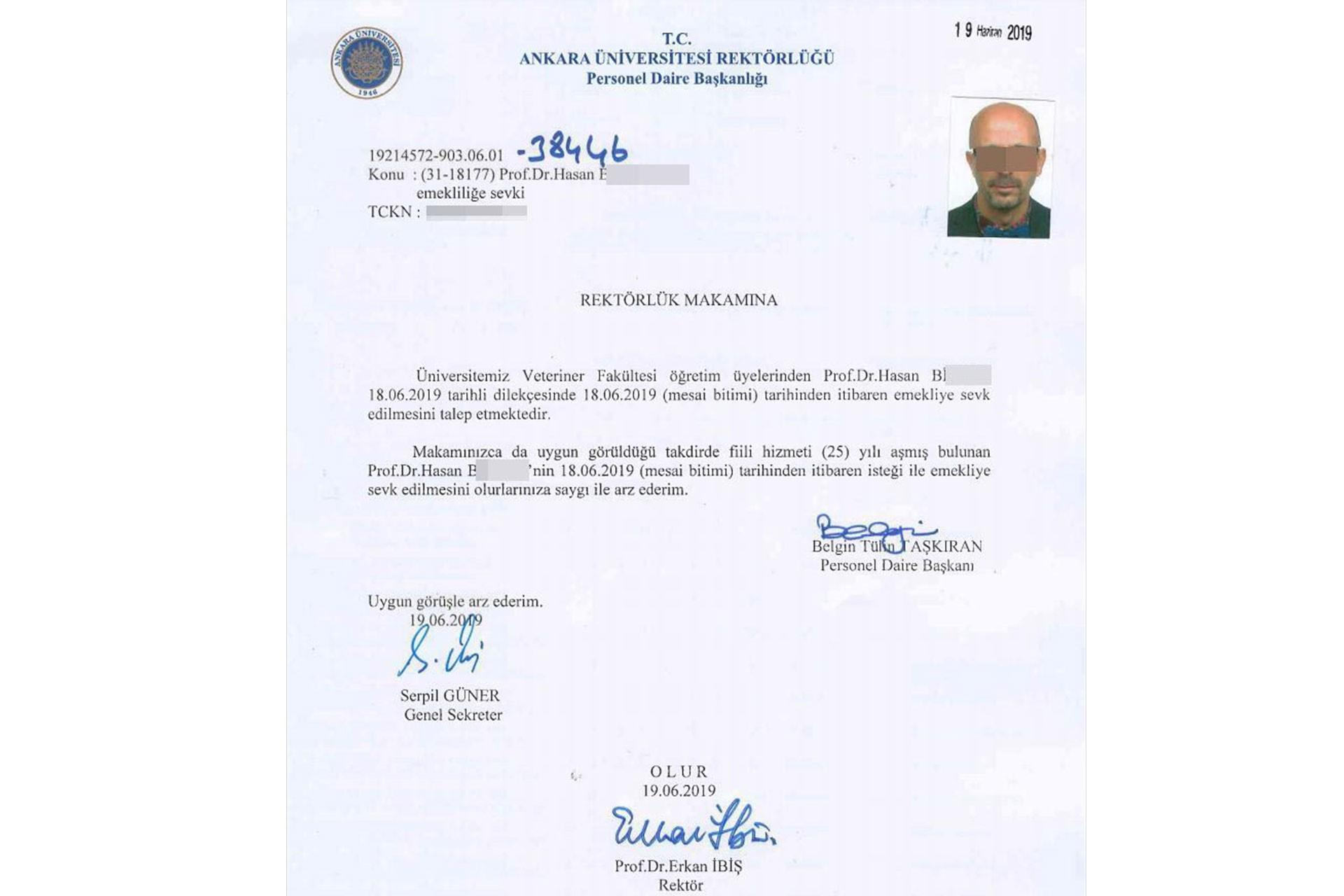 Cinsel saldırı sanığı Prof. Dr. Hasan B.'ye jet emeklilik