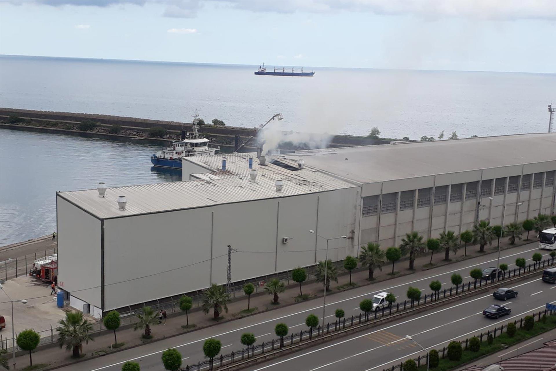 Giresun Limanında kazan dairesinde patlama meydana geldi