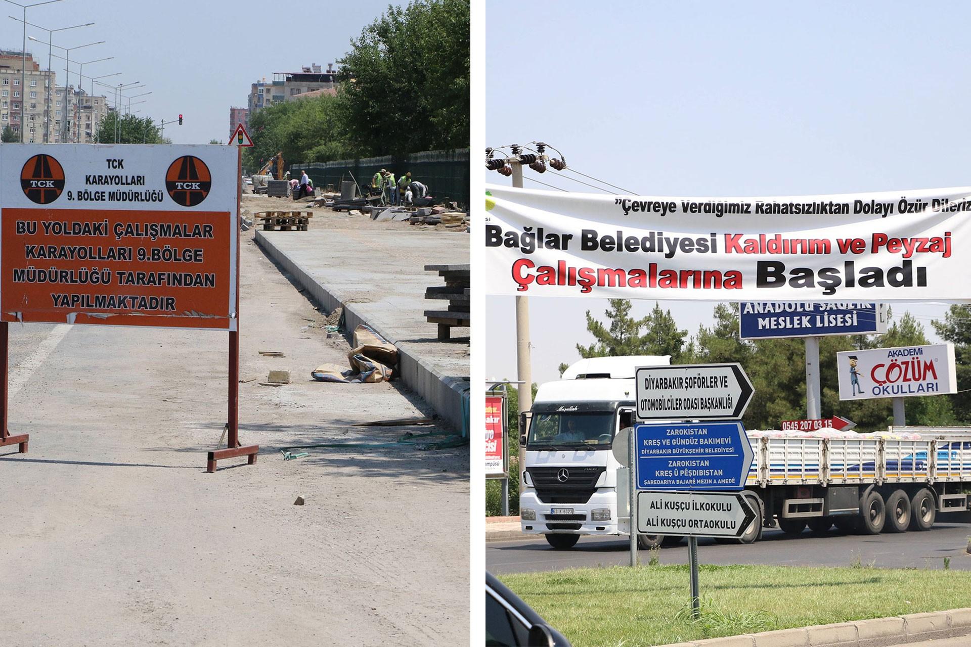 Bağlar Belediyesi Karayolları'nın çalışmasını kendine mal etti