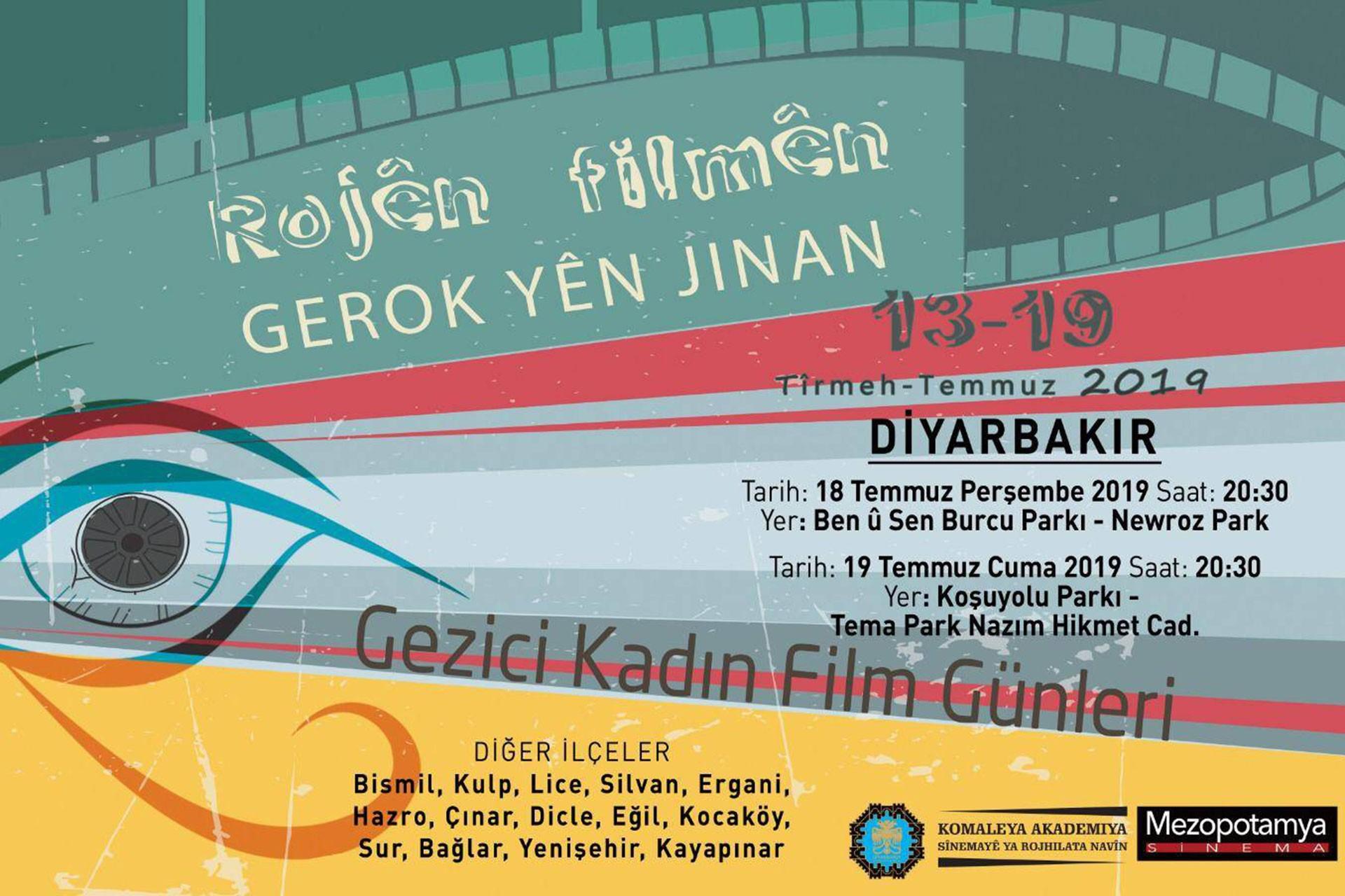Diyarbakır'da Gezici Kadın Film Günleri 13 Temmuz'da başlıyor