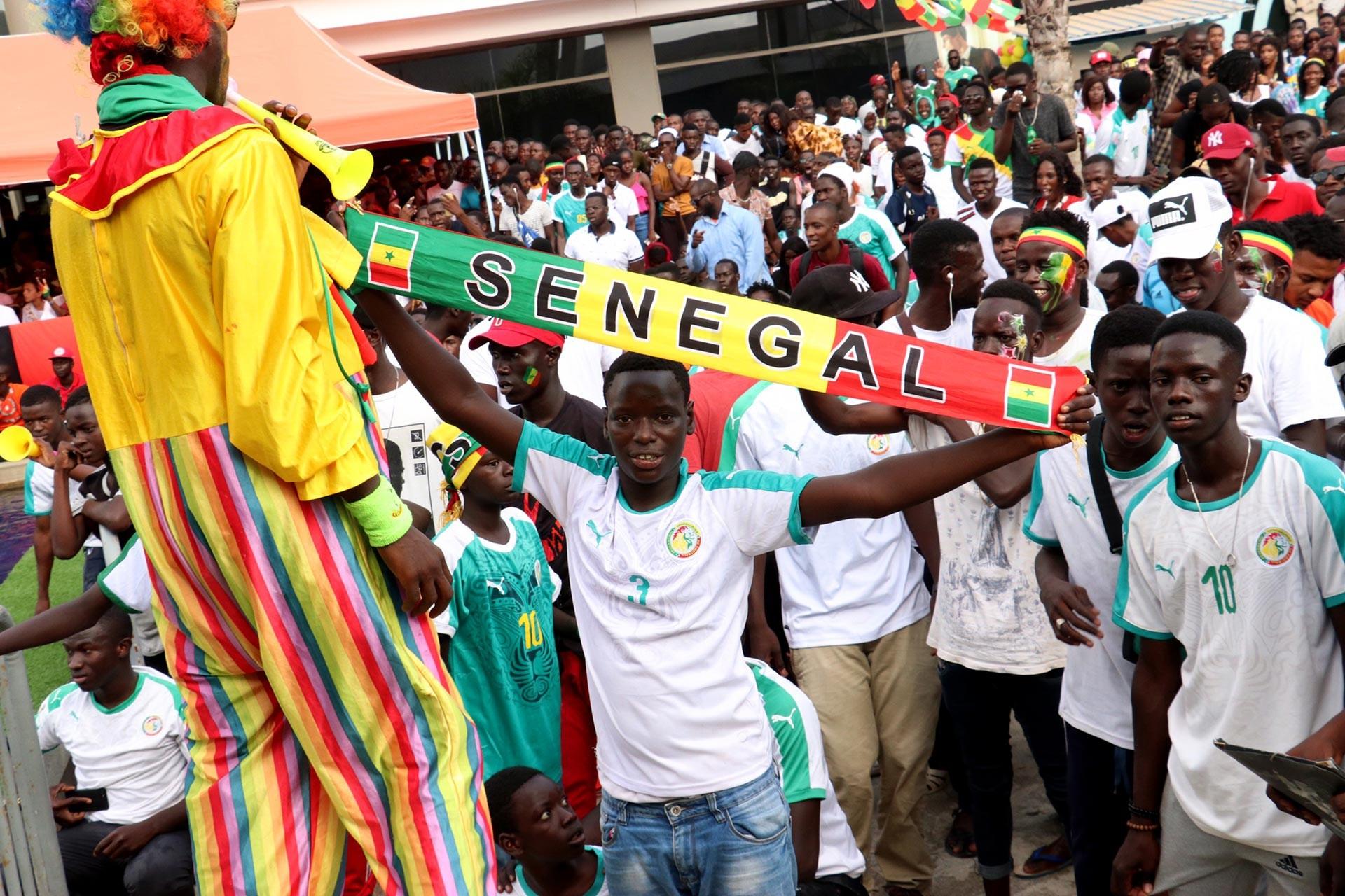 Senegalliler yarı finale yükselmenin sevincini yaşadı