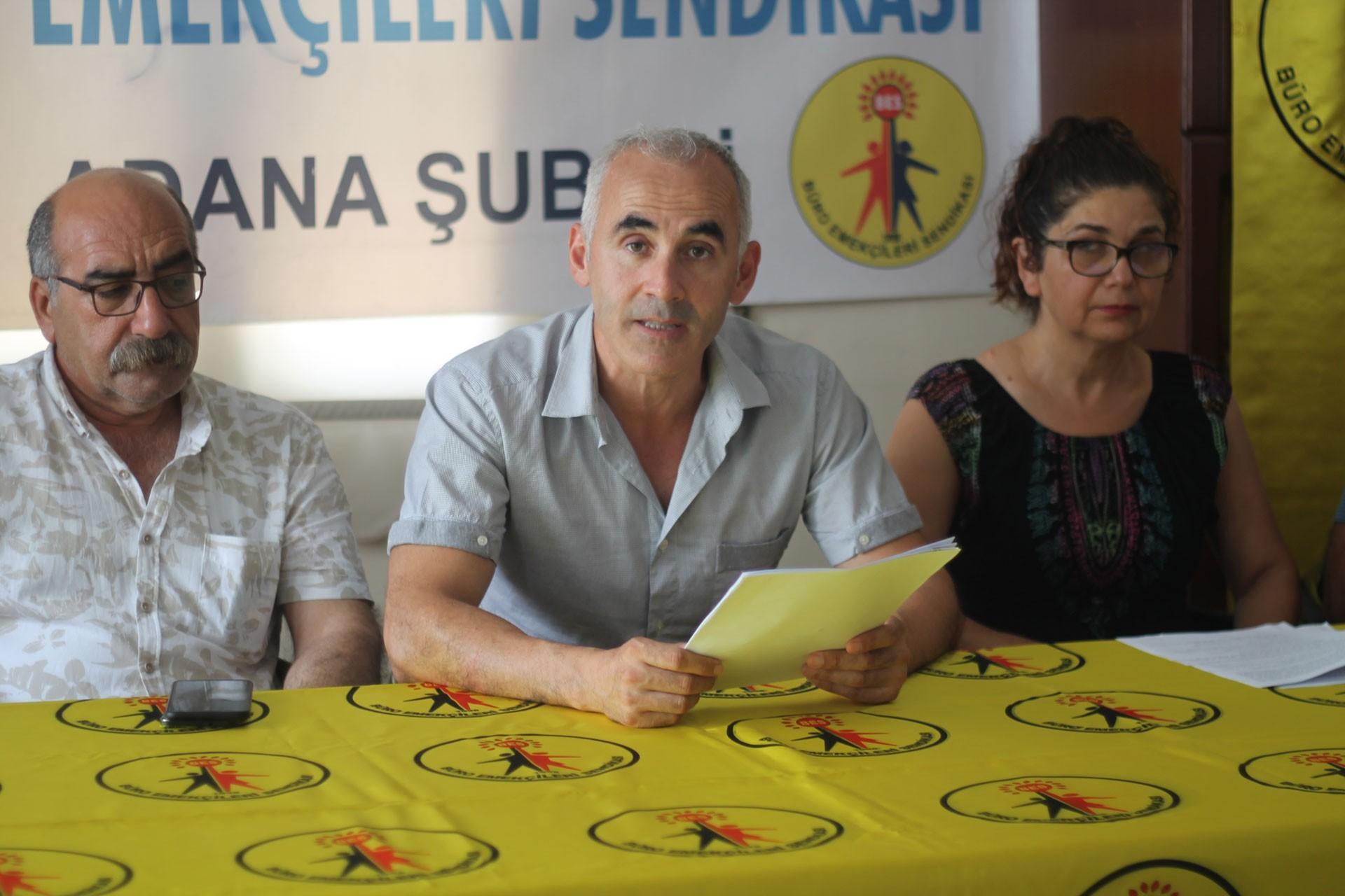 BES Adana: Grevli toplu sözleşmeli sendika hakkı istiyoruz