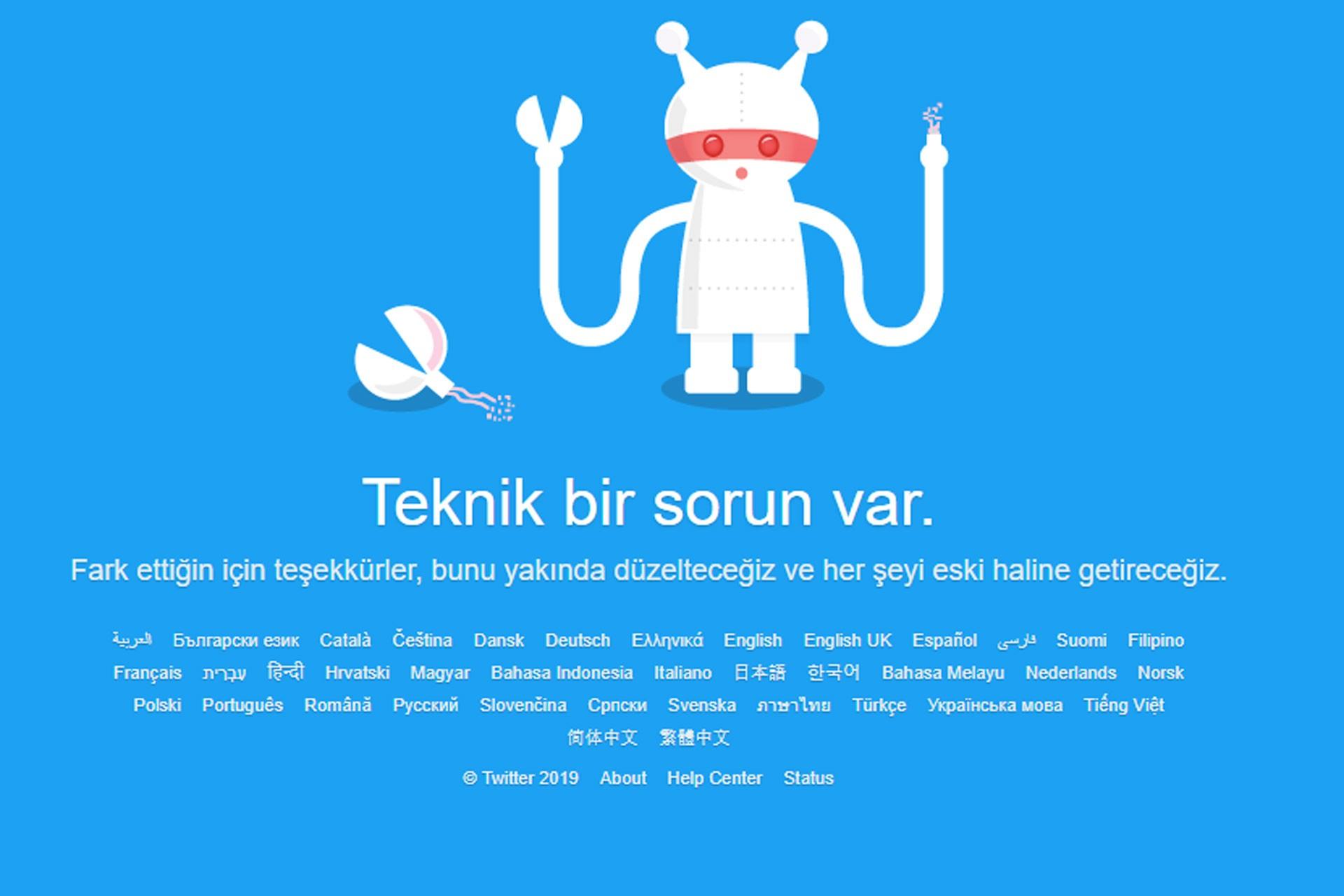 Twitter'a bir süre erişim sağlanamadı
