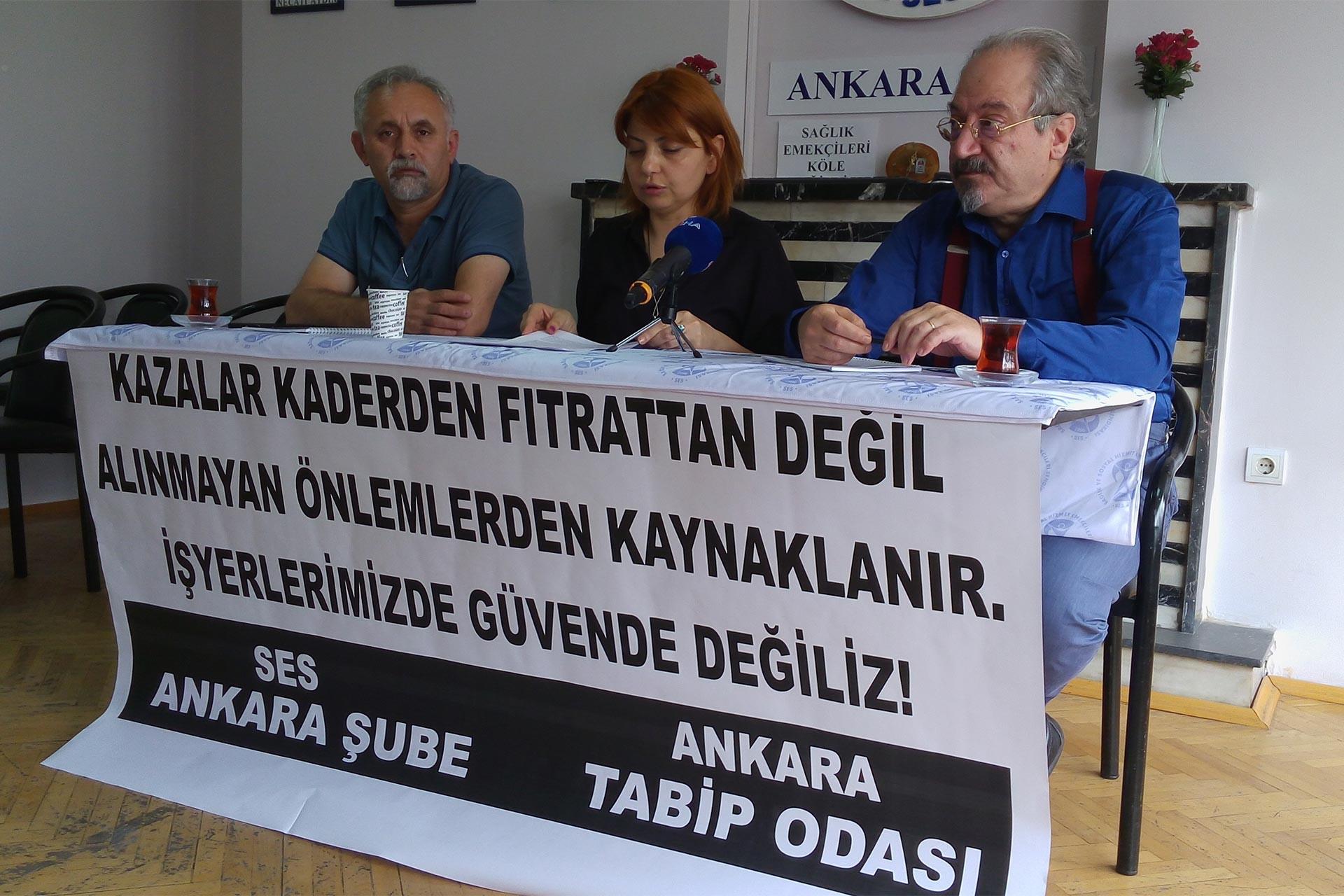 SES Ankara Şube: Çoğu hastanede işçi sağlığı ve güvenliği sadece kağıt üstünde