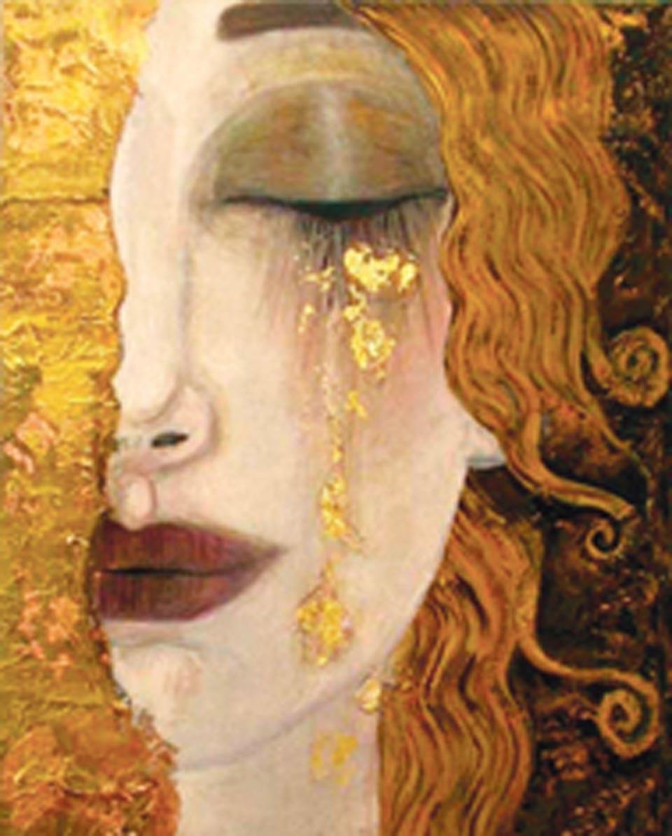 Ağlayan Kadın tablosu - Gustav Klimt