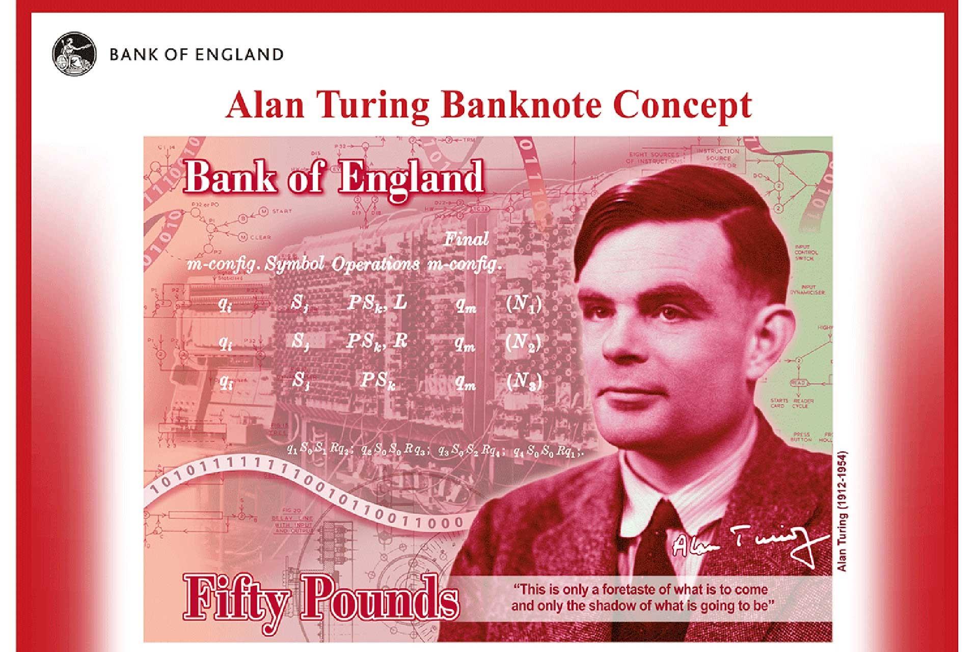 50 poundluk banknotlarda Alan Turing'in resmi yer alacak