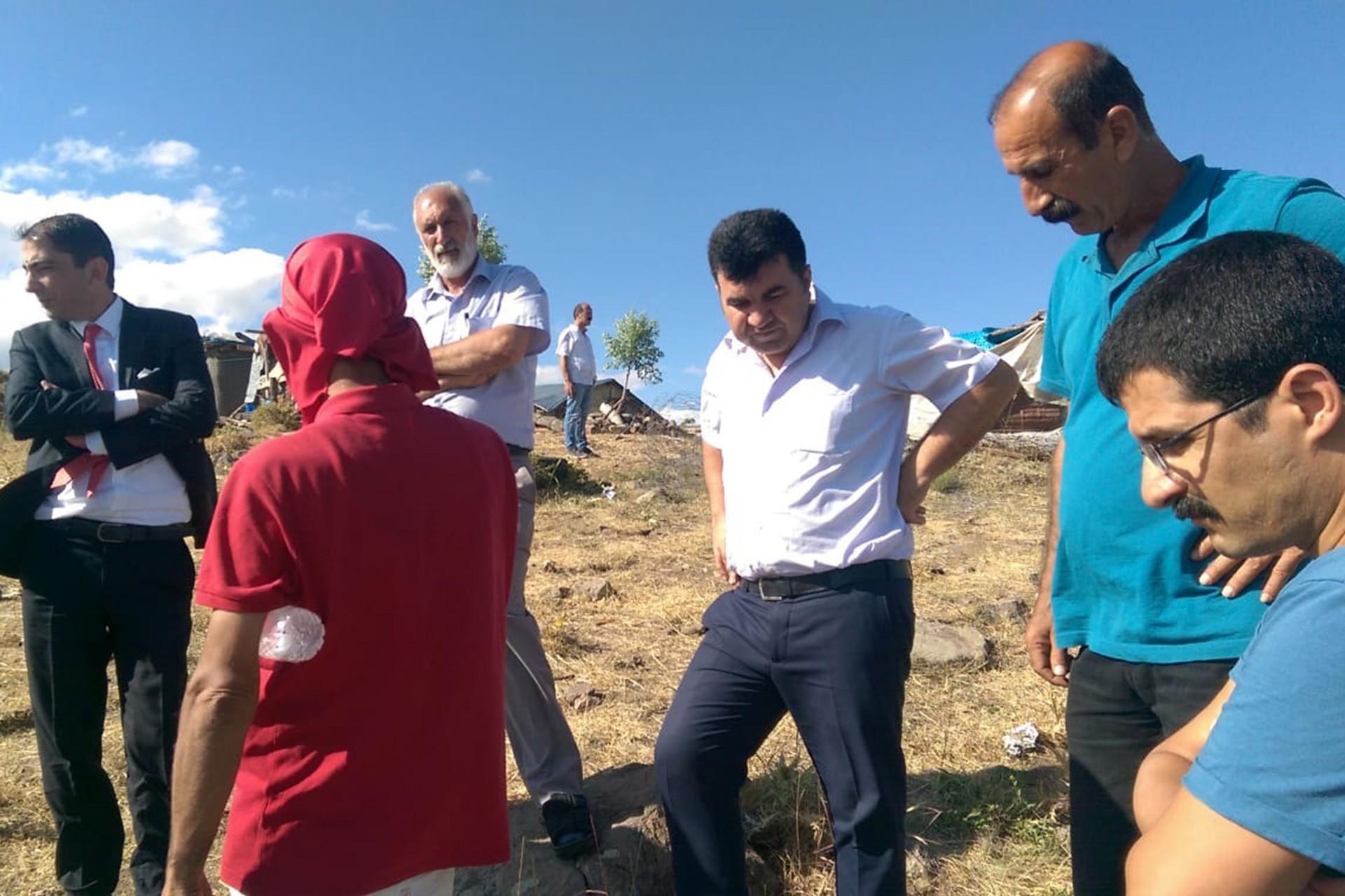 Dersim'de kurum temsilcileri patlama bölgesinde incelemelerde bulundu