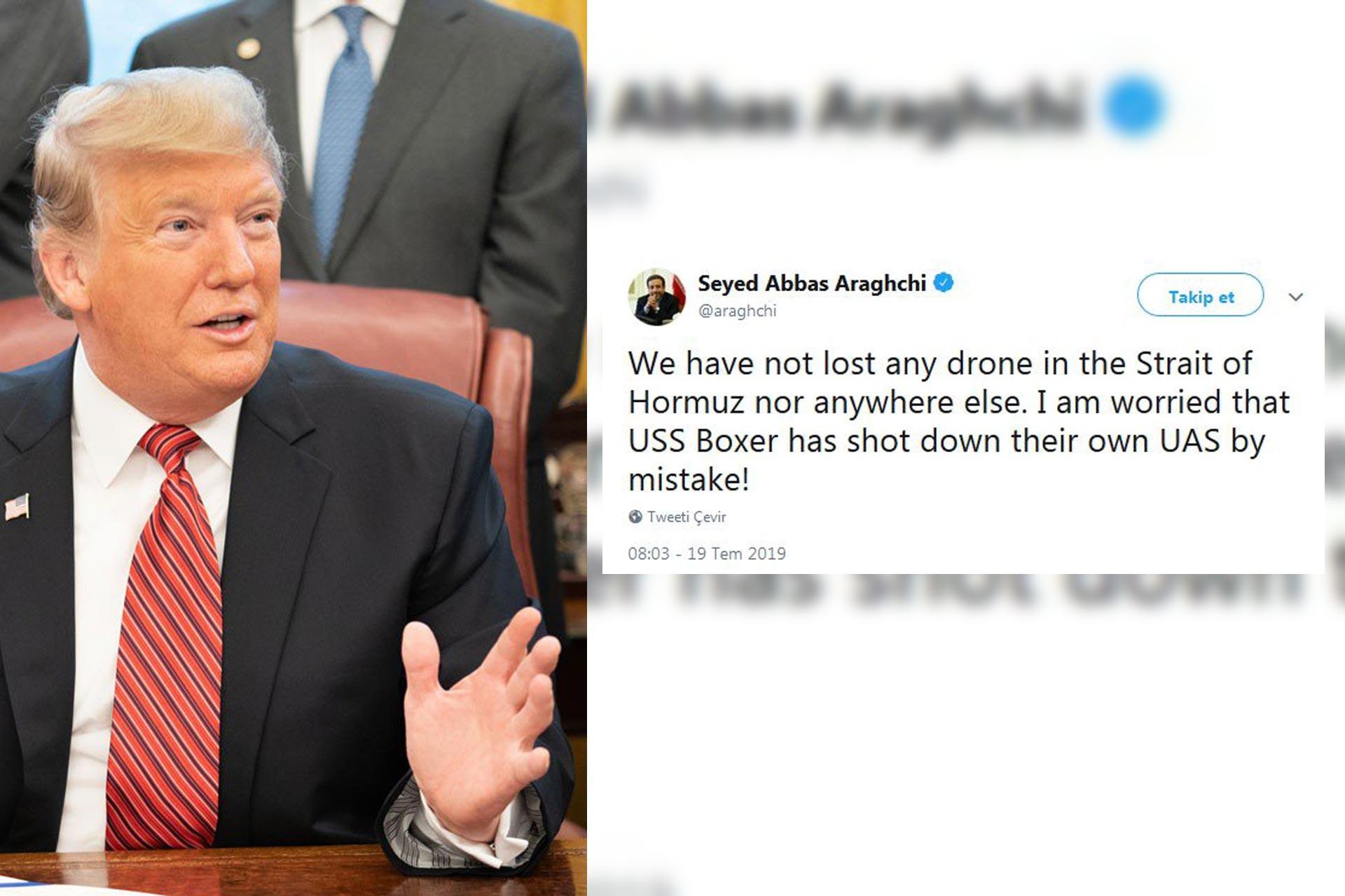 Trump: İran'ın insansız hava aracını vurduk | İran: Kendi drone'unuz olabilir