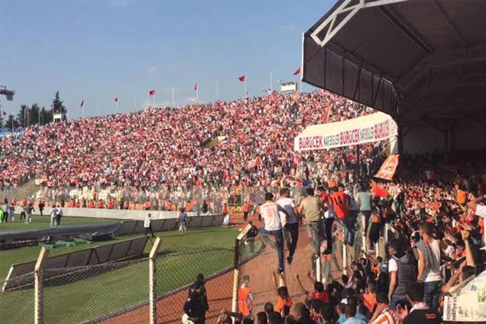 Adanaspor taraftar gruplarından Kaplanpenche'den uyuşturucunun kalesine gol
