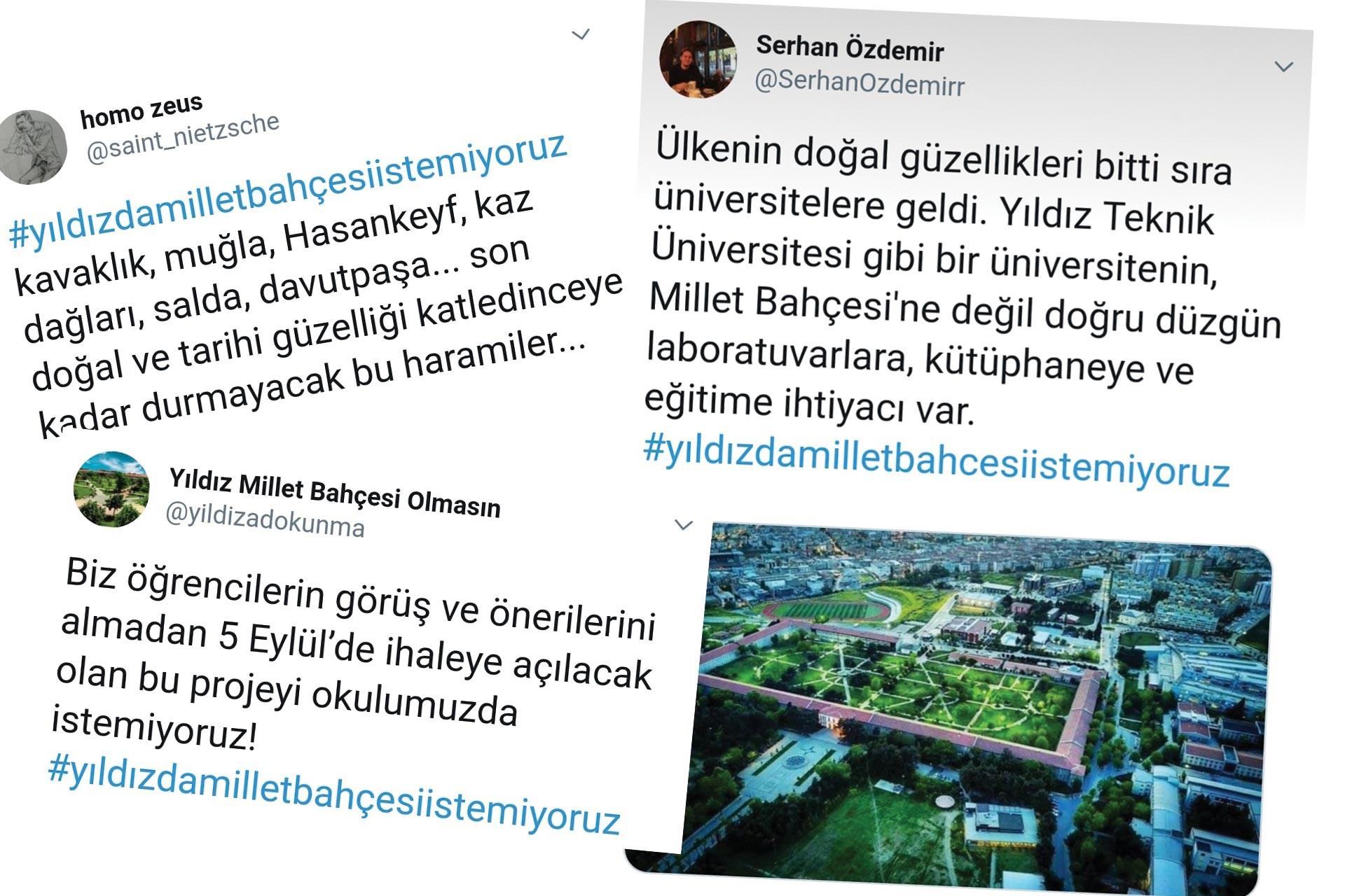 Yıldız Teknik Üniversitesi öğrencileri, kampüste millet bahçesi istemiyor
