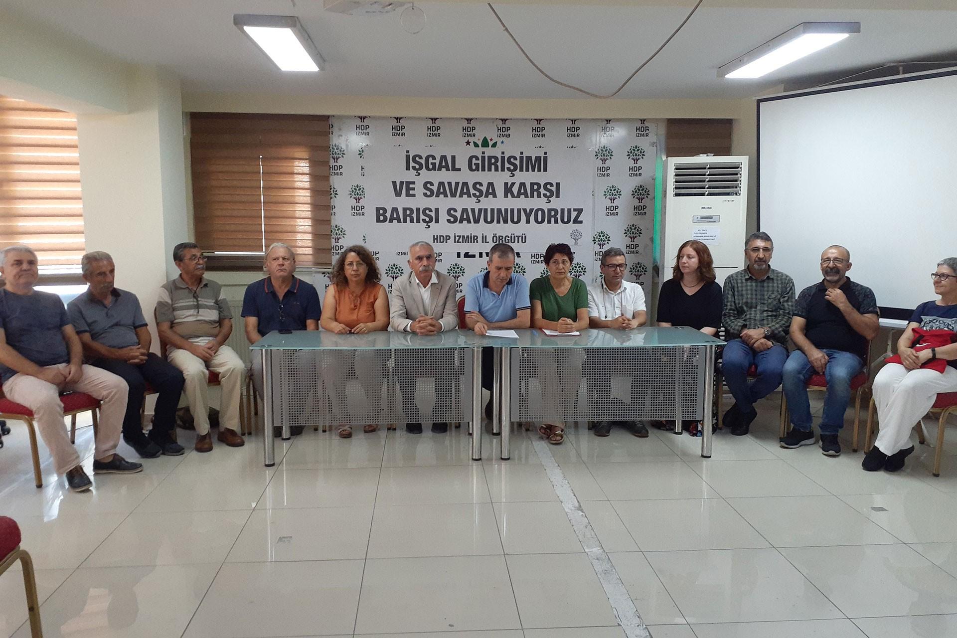 HDP İzmir İl Örgütü: İşgal ve savaşa karşı barışı savunuyoruz