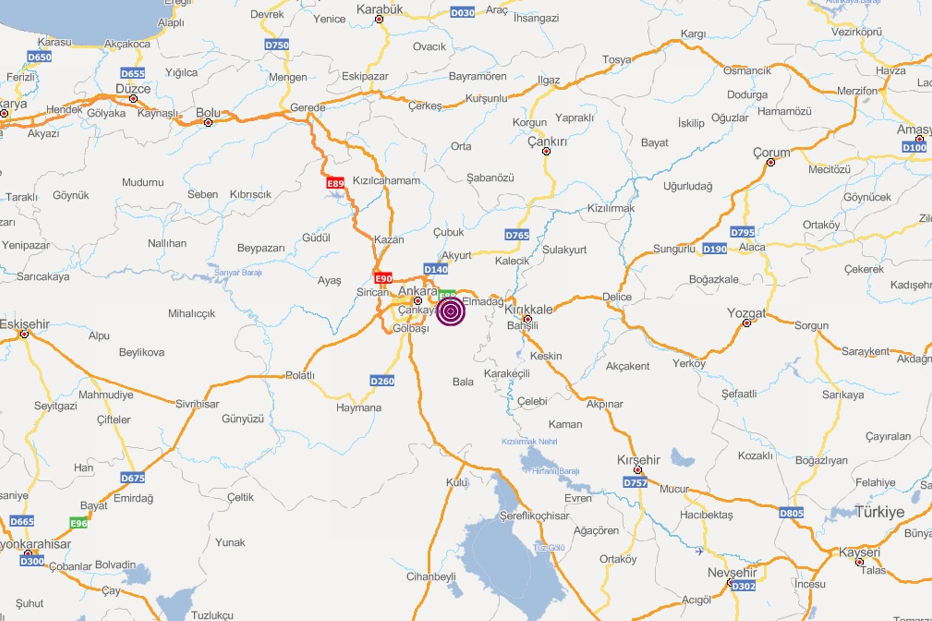 Ankara'da 3 büyüklüğünde deprem