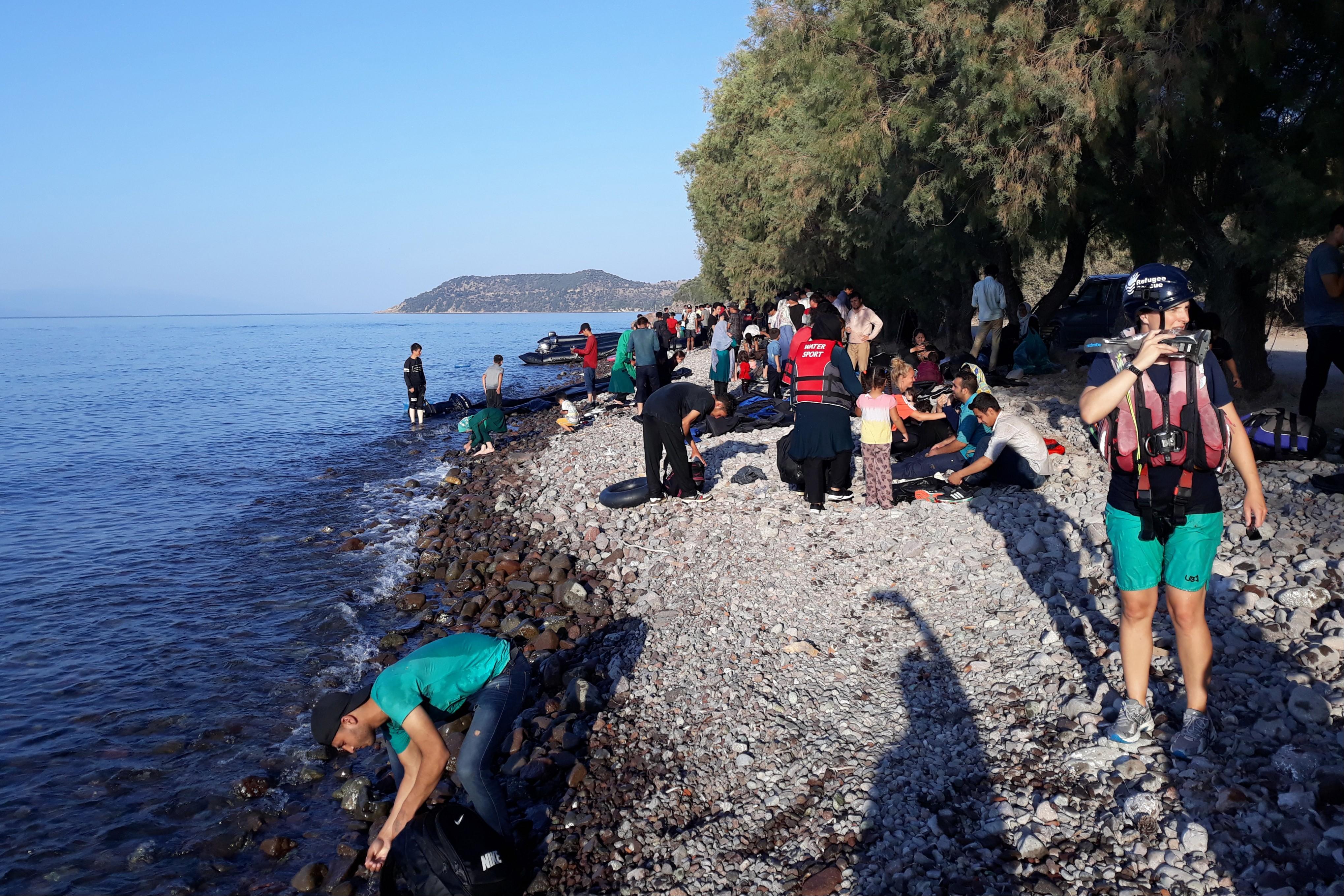Midilli Adası'na mülteci geçişlerinde büyük artış