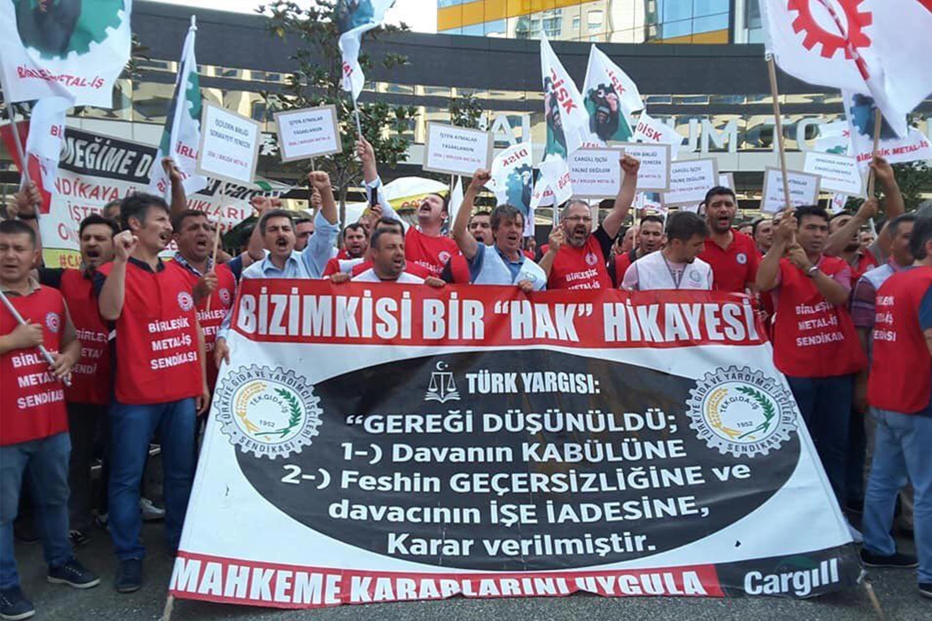 Direnişteki Cargill işçileri: Sadece işimizi geri istiyoruz