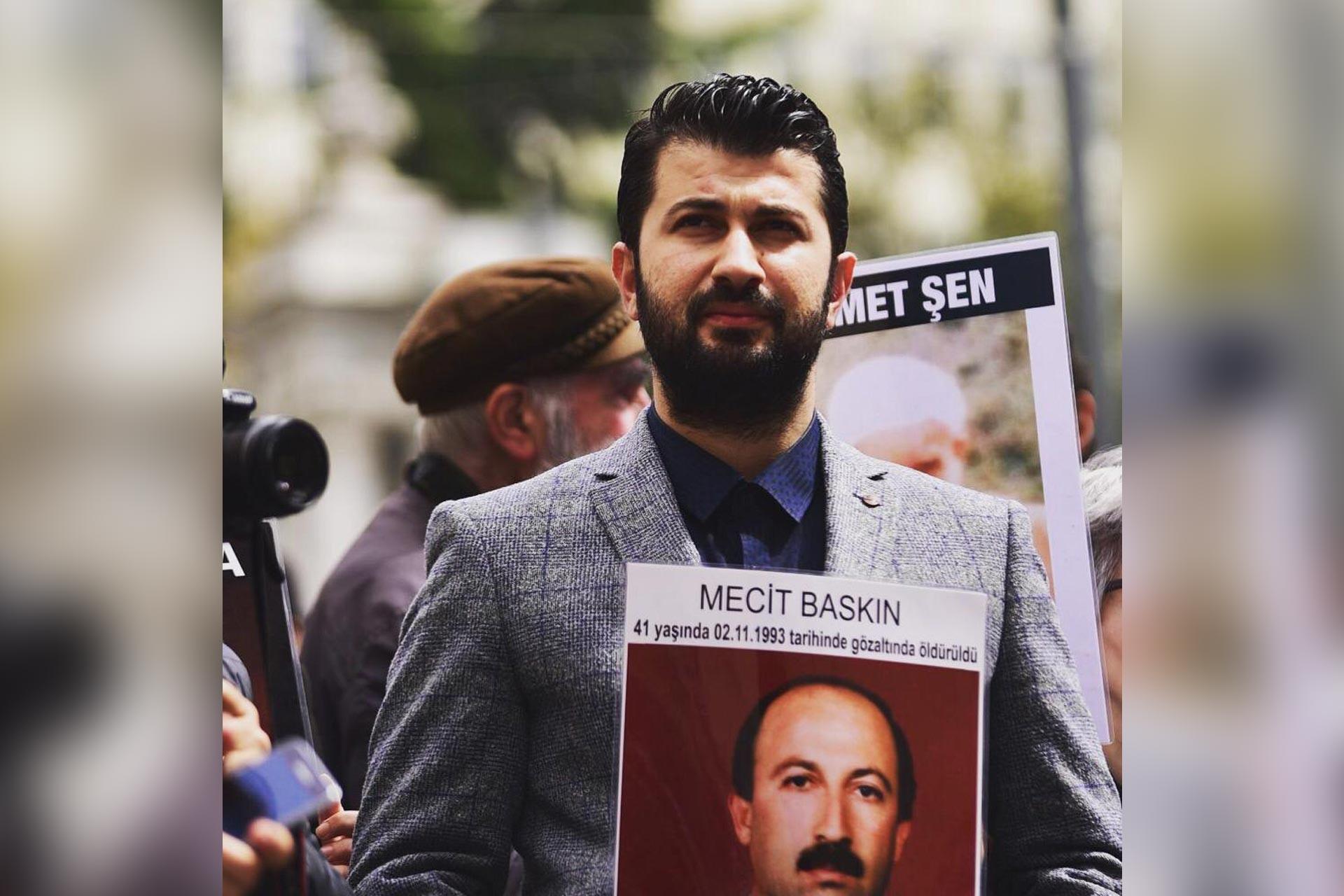 28 yıl önce babası Abdulmecit Baskın kaybeden Eren Baskın