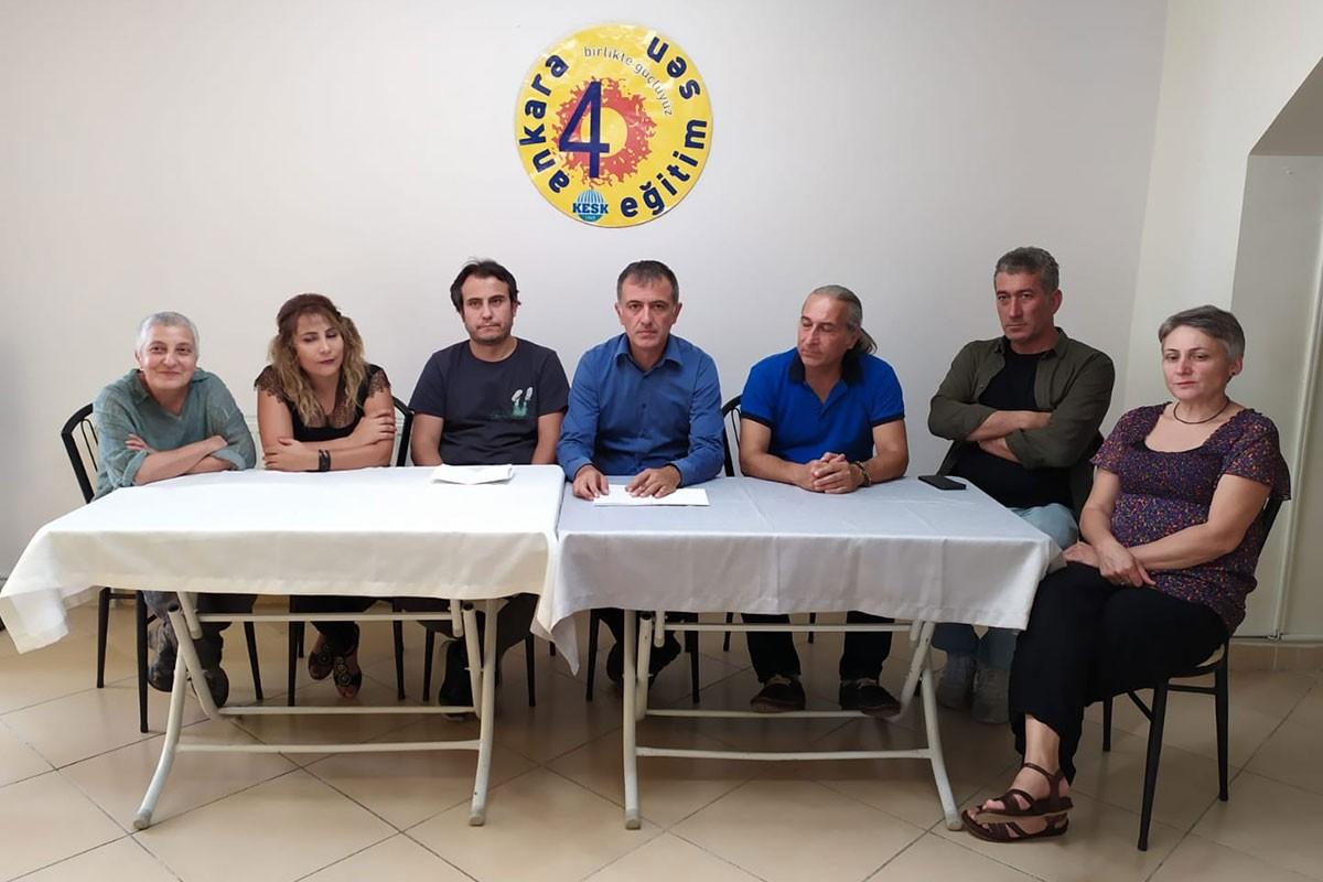 Eğitim Sen Ankara 4 No'lu Şube, üyelerinin kaçırılmak istendiği olayın aydınlatılmasını istedi