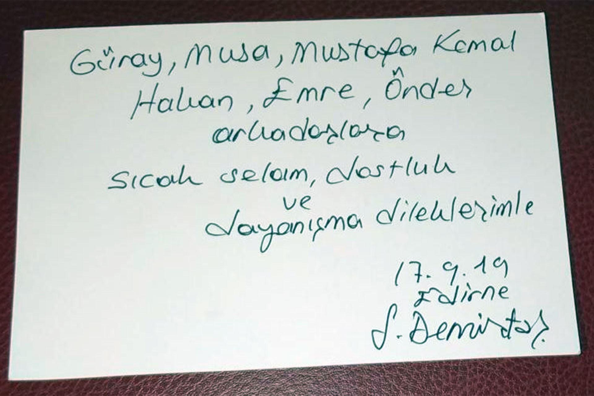 Demirtaş'tan tahliye edilen eski Cumhuriyet çalışanlarına mesaj