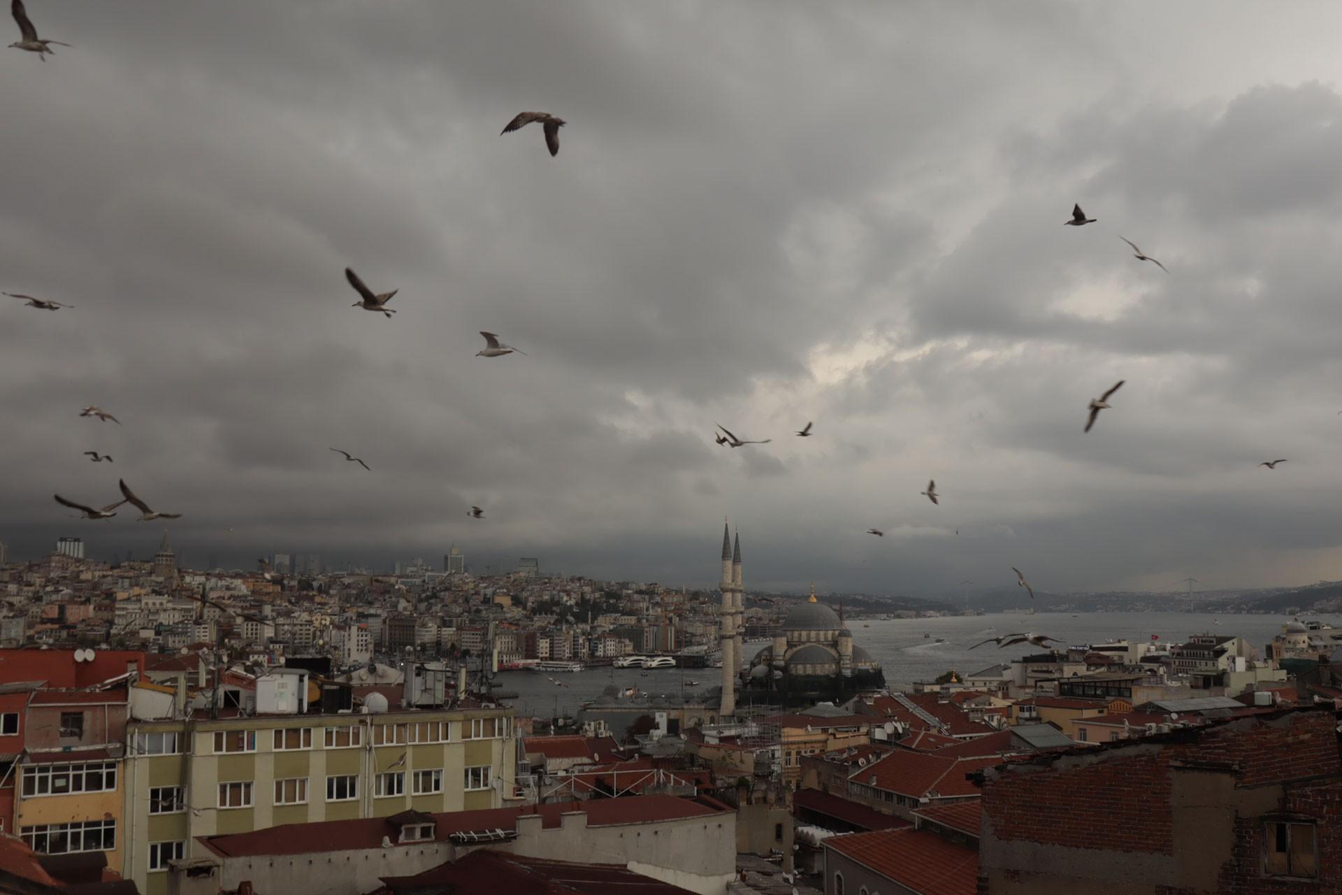 İstanbul'da yağmur bulutları
