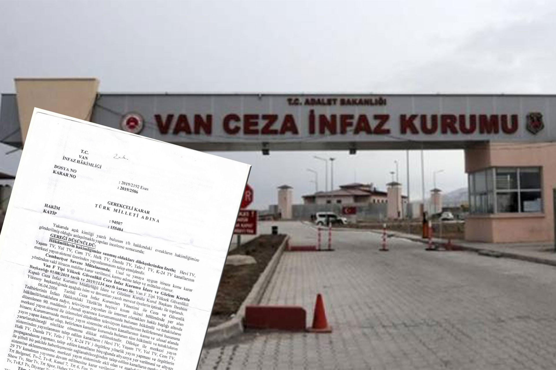 Cezaevinde 8 TV kanalına yasak: Altyazıyla şifreli haberleşiyorlar
