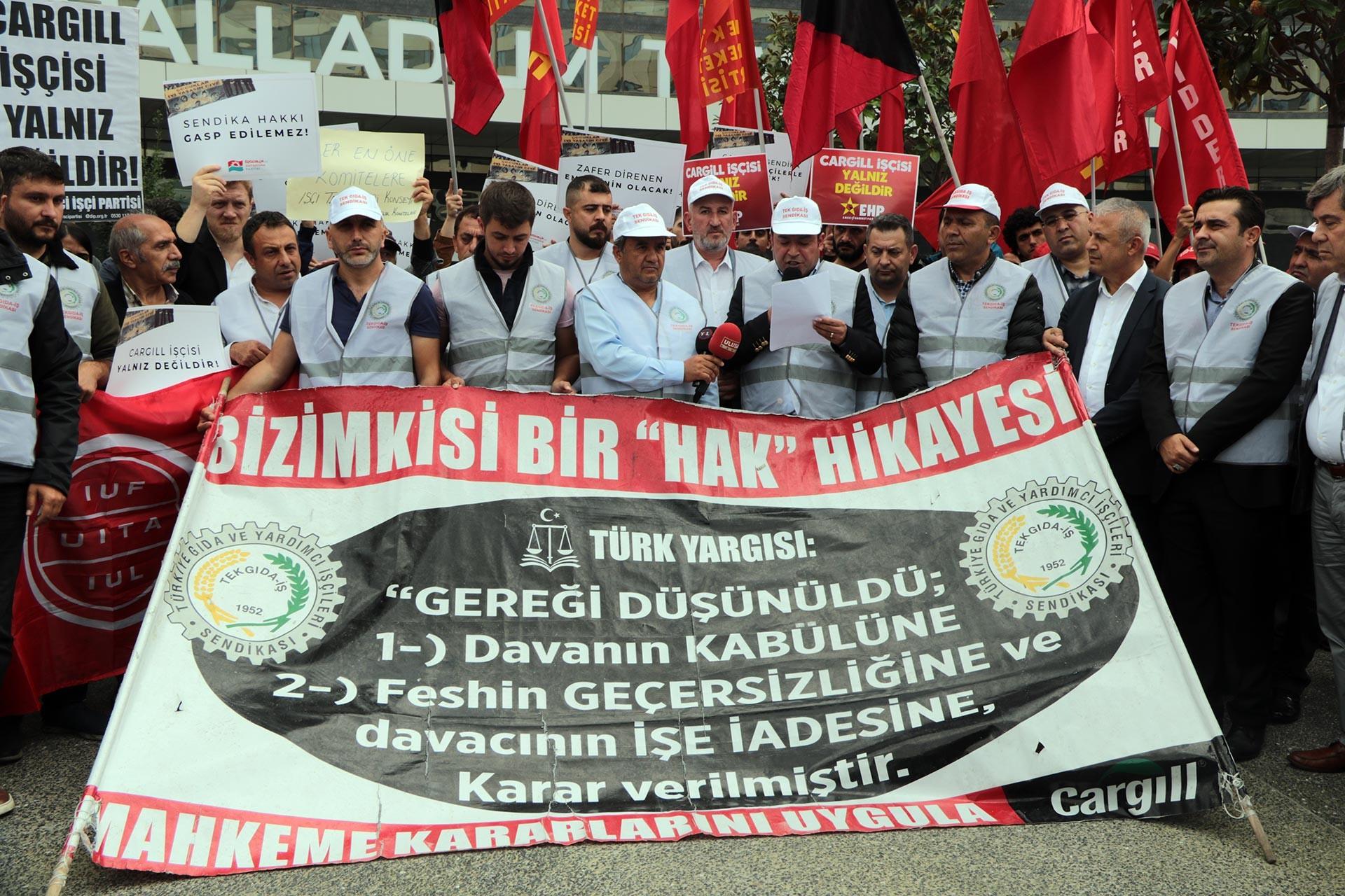 Direnişteki Cargill işçileri, eylemlerini başka noktalara da taşıyacak