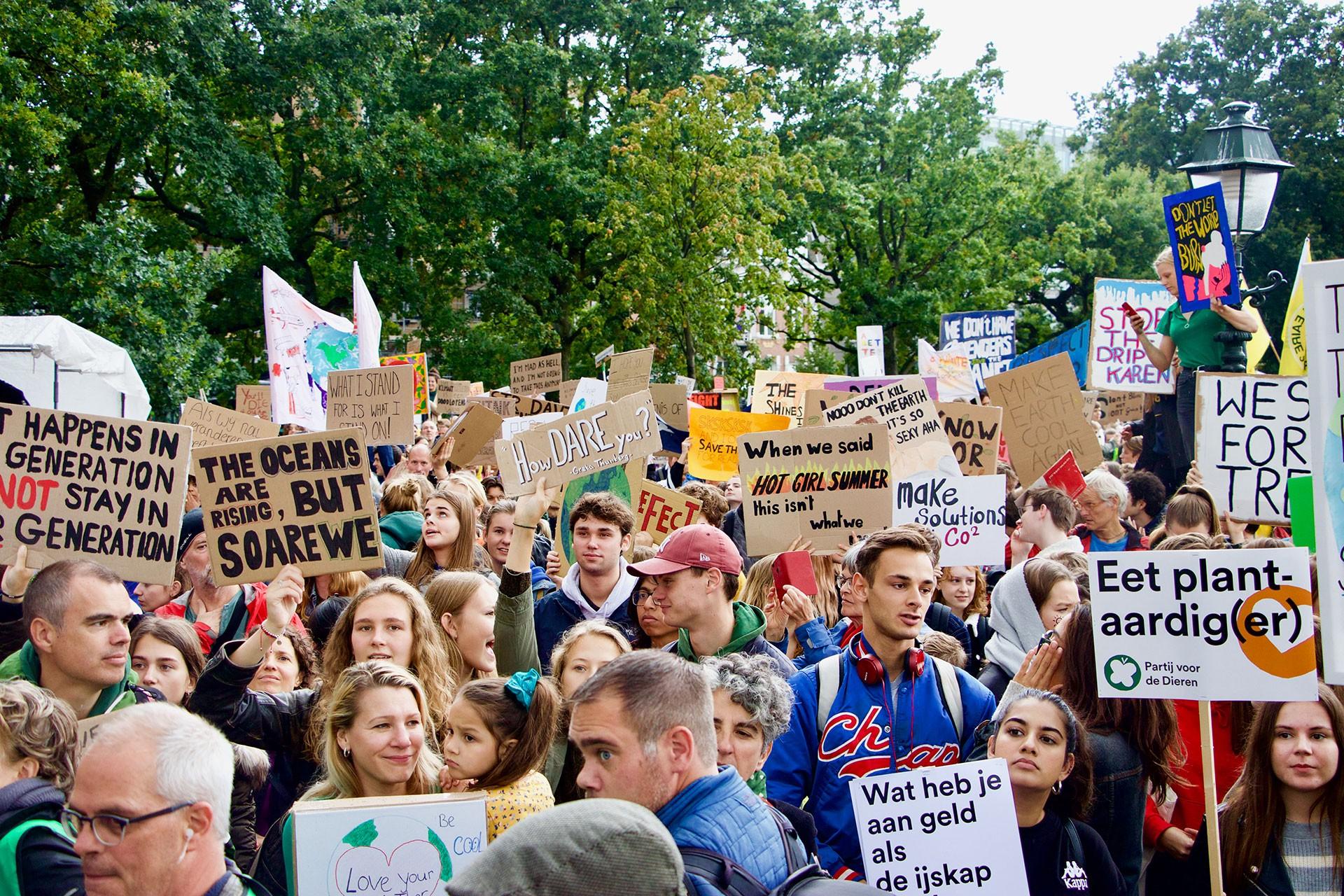 Hollanda'da iklim protestosu