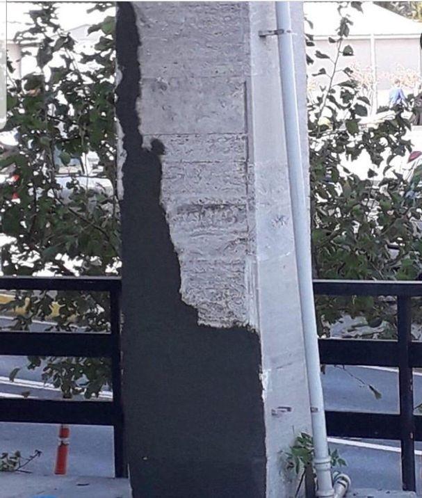 İÜ Diş Hekimliği Fakültesi binasında depremde meydana gelen yarıklar sıva ile kapatıldı