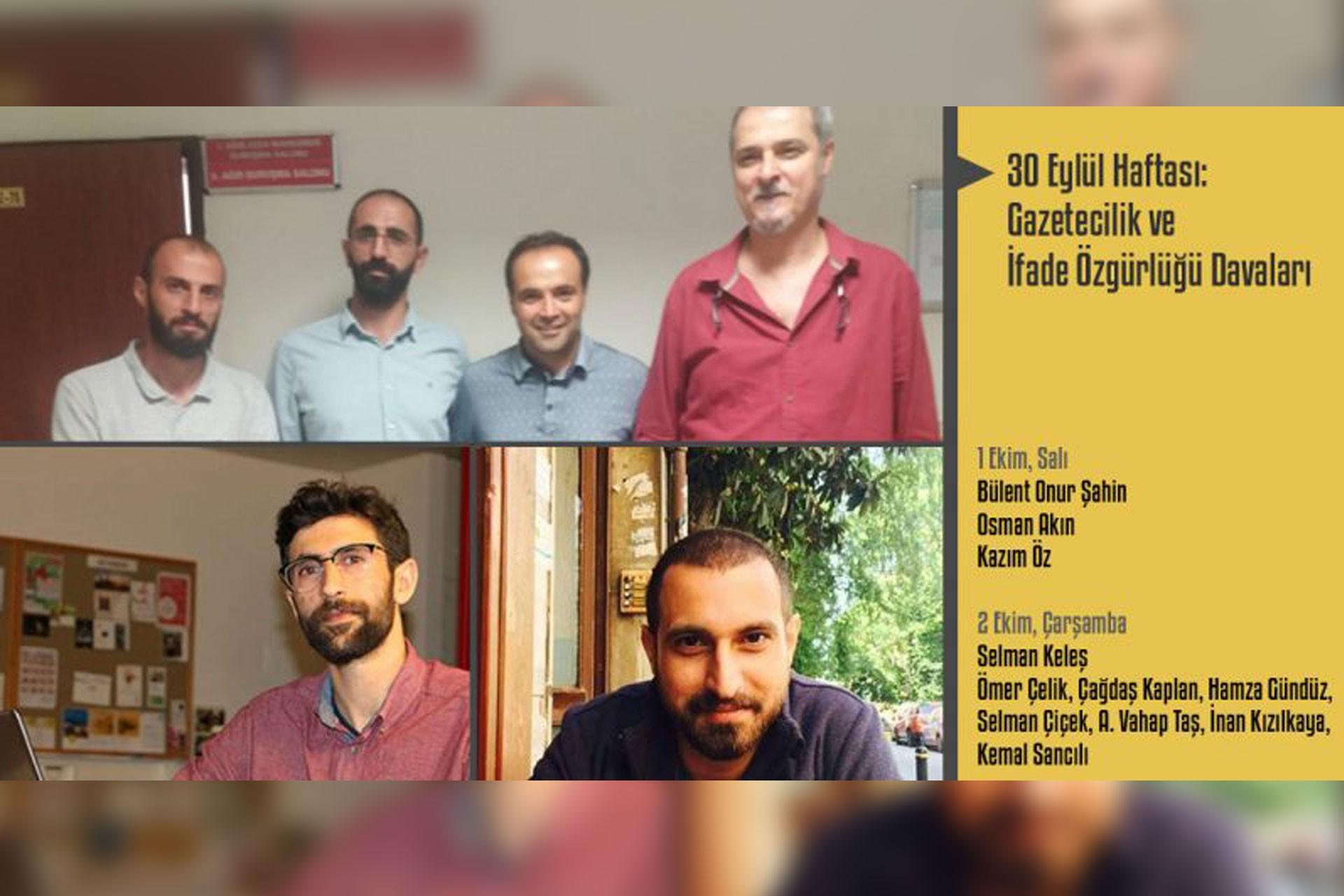 Adliye mesaisi devam: Bu hafta 9 gazeteci hakim karşısına çıkacak