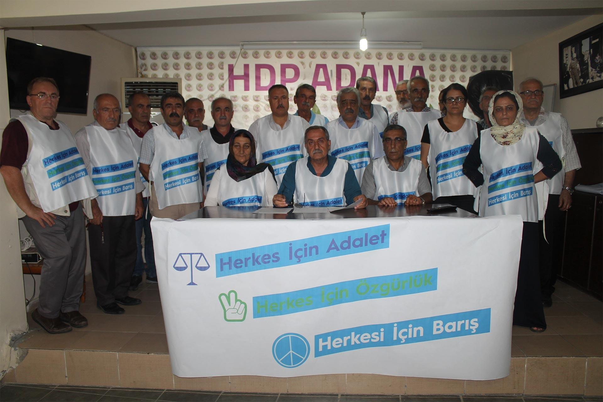 HDP Adana İl Örgütü kayyumlara karşı imza kampanyasını başlattı