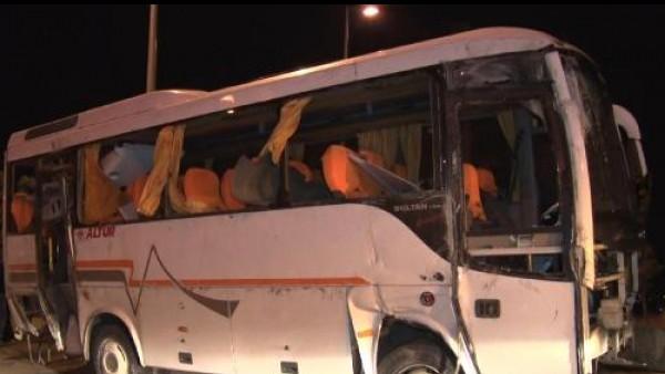 İstanbul Havalimanı çalışanlarını taşıyan servis kaza yaptı: 5 yaralı
