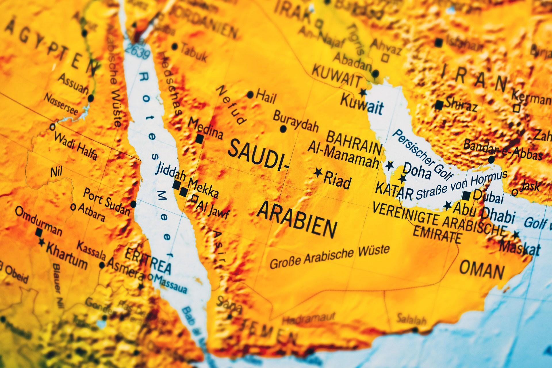suudi arabistan haritası