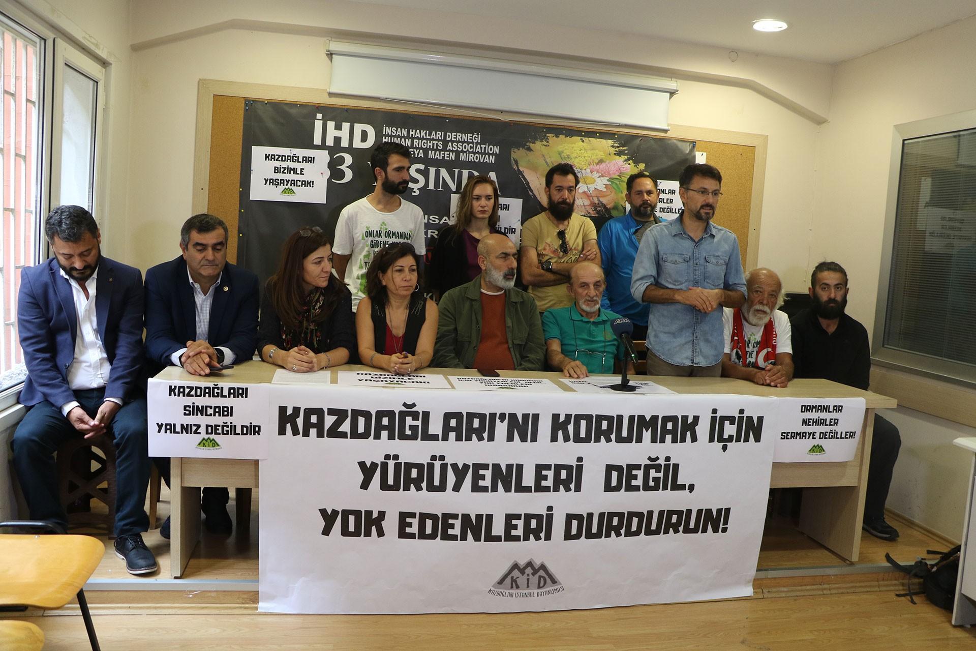 Kaz Dağları için yapılan yürüyüş 10 Ekim'de devam edecek