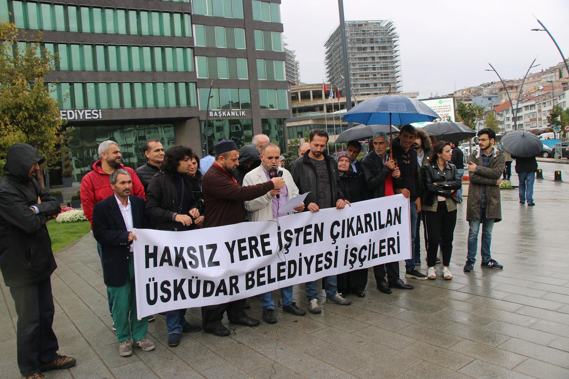 Üsküdar Belediyesi işçileri