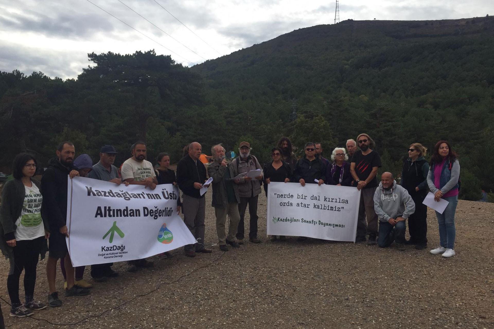 Sanatçılardan Kaz Dağları mücadelesine destek
