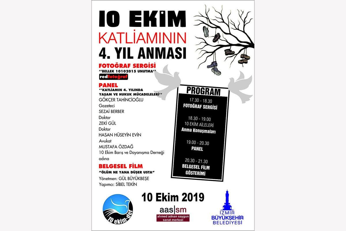 Çorum ve İzmir'de 10 Ekim Ankara Katliamı anmasının programı belli oldu