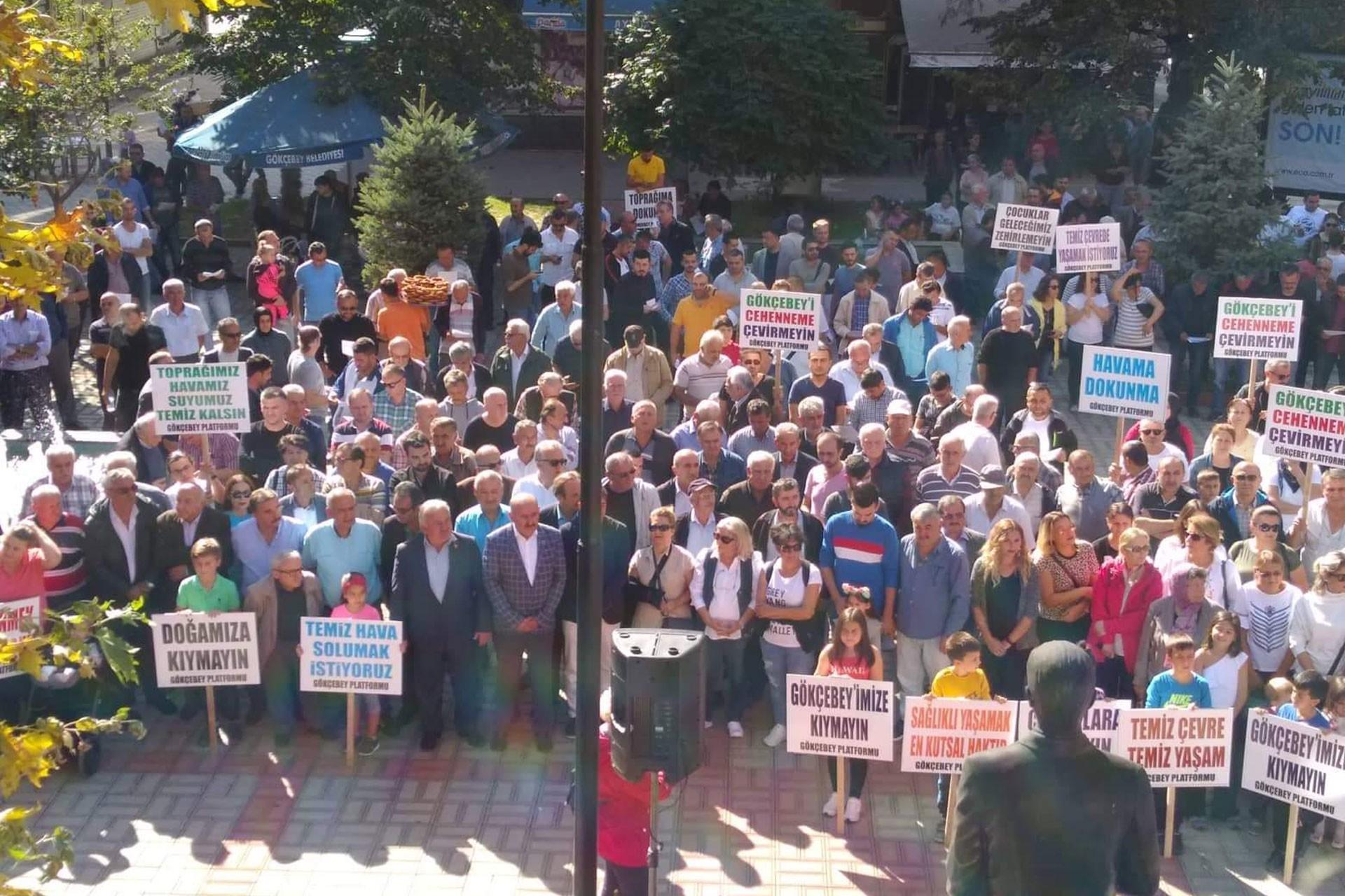 Zonguldak'ta biyokütle enerji santraline karşı eylem