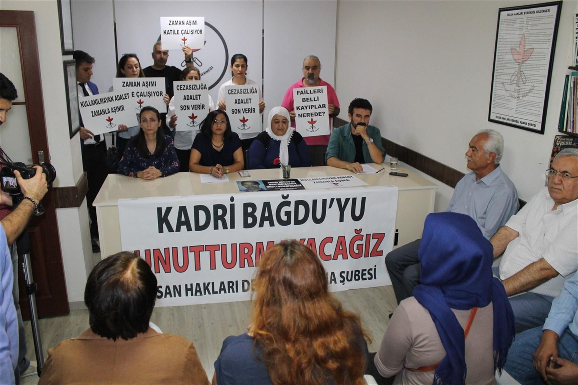 Adana'da öldürülen Azadiya Welat çalışanı Kadri Bağdu anıldı