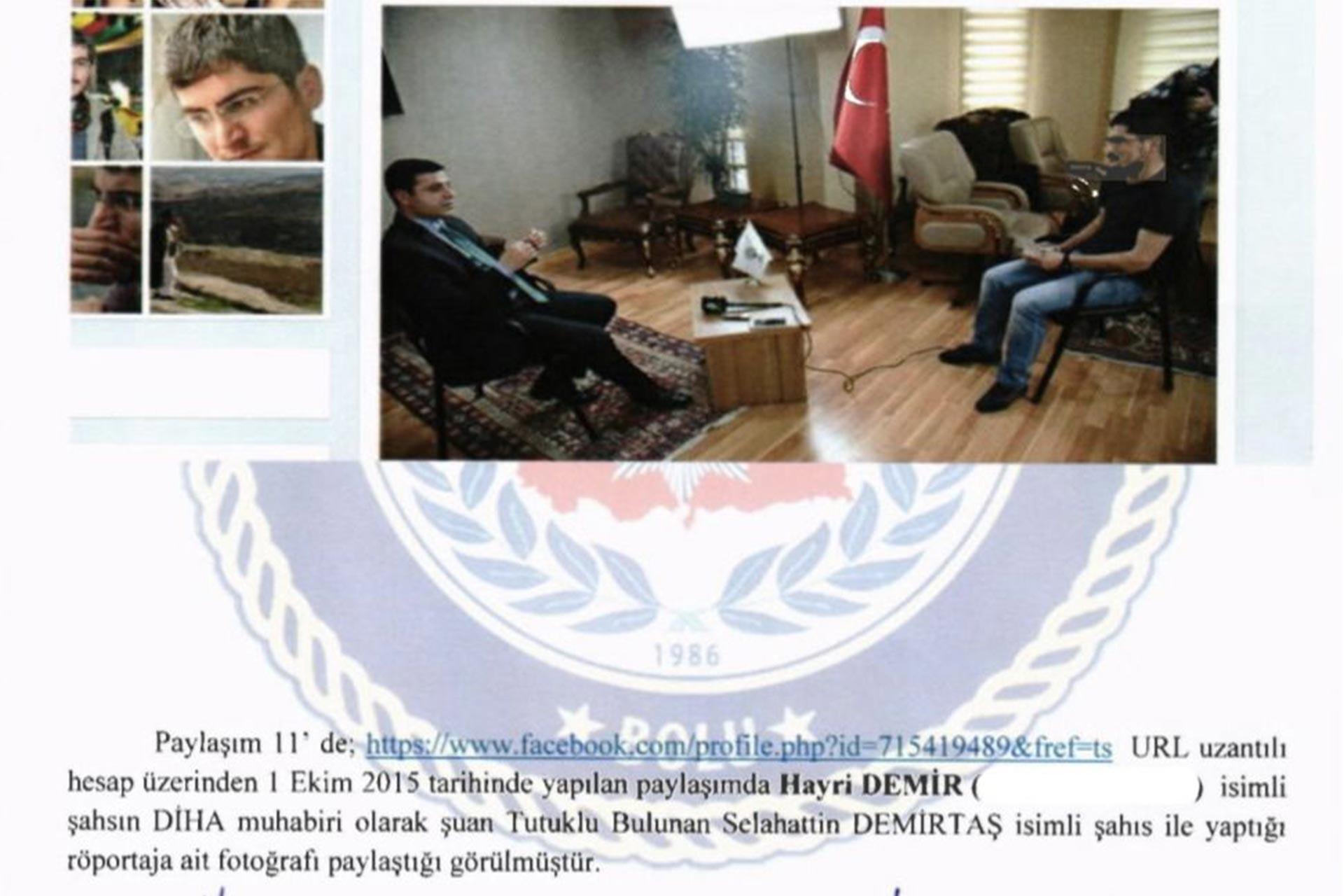 Selahattin Demirtaş ile yapılan röportaj suç sayıldı