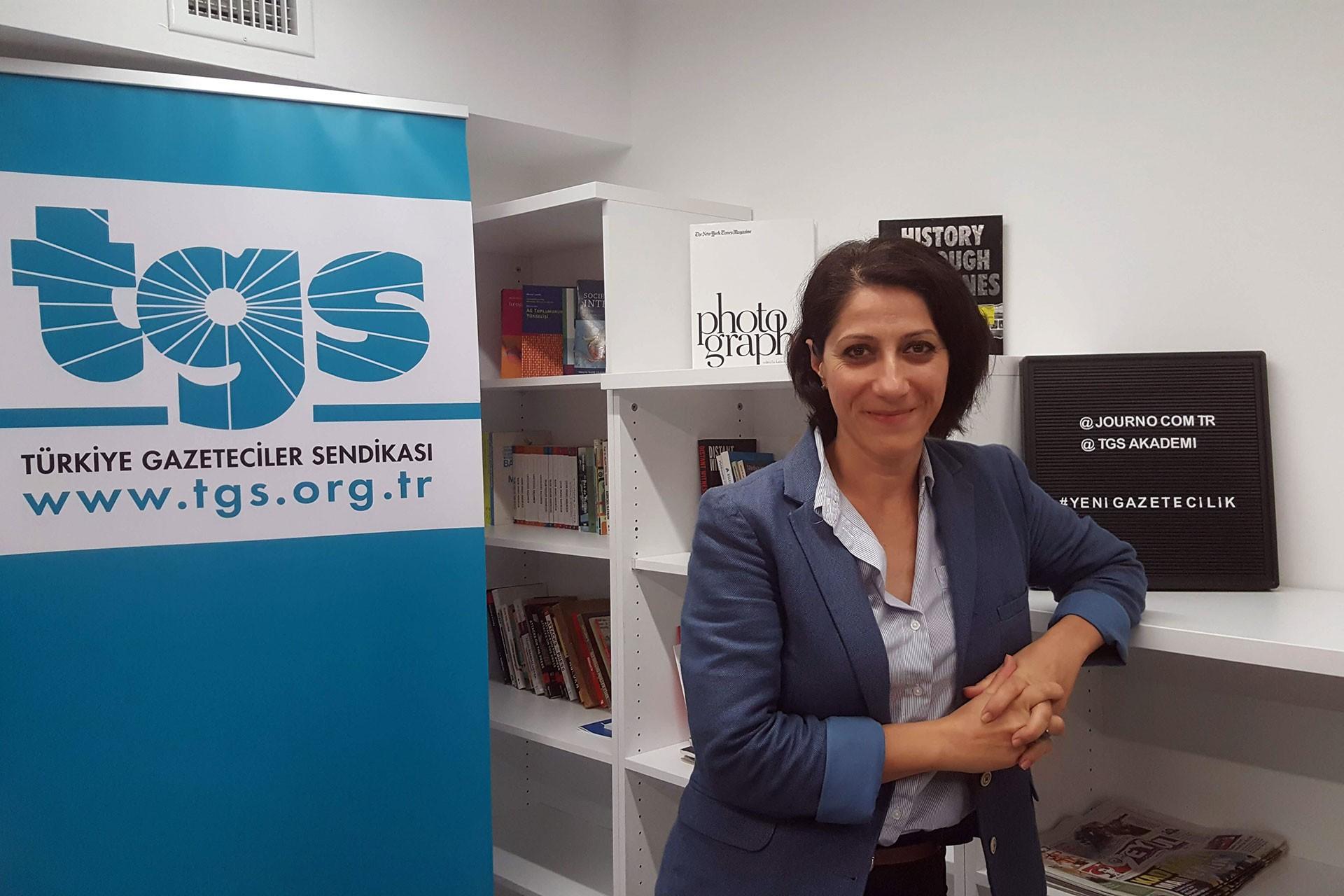 Türkiye Gazeteciler Sendikası İstanbul Şube Başkanı Banu Tuna