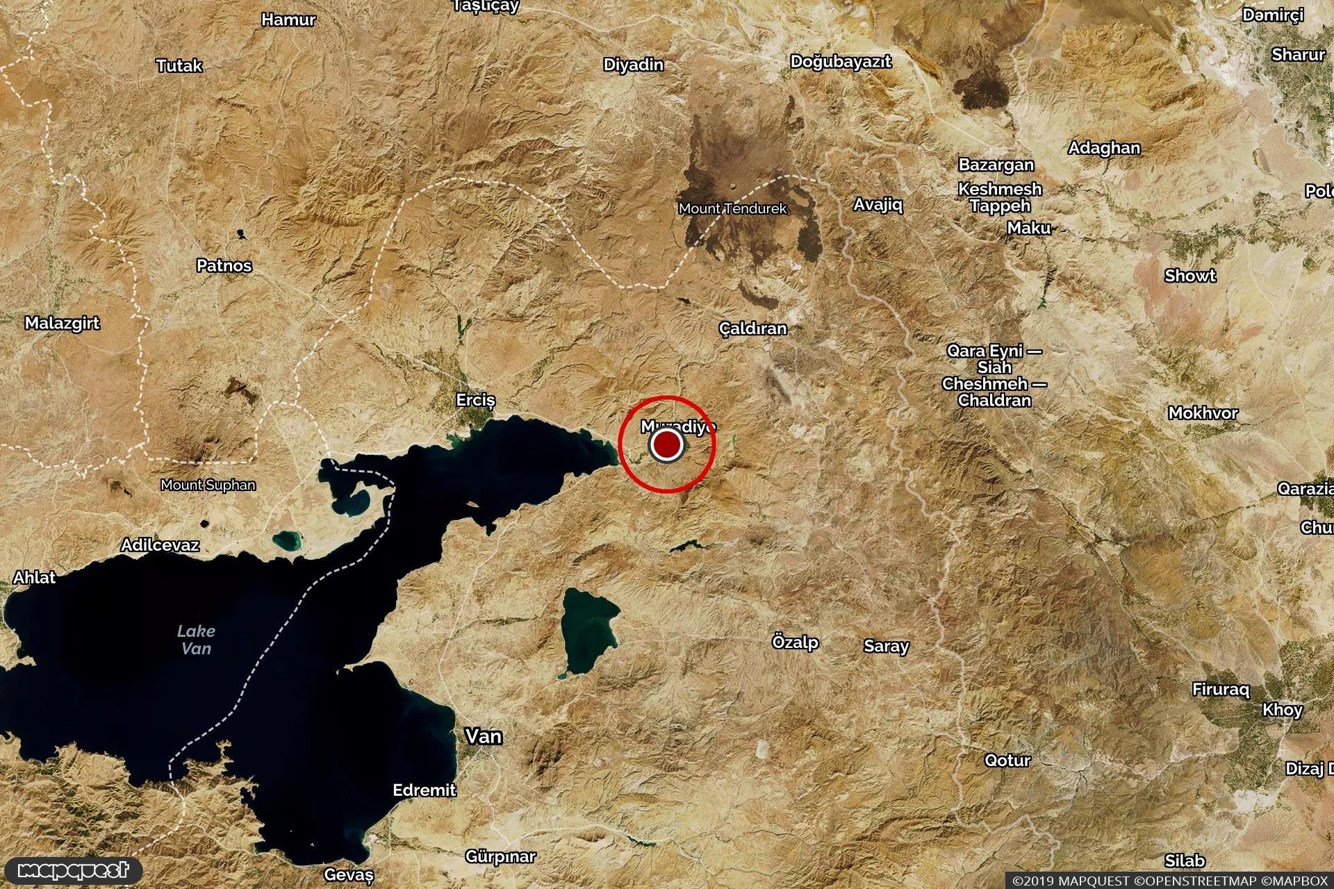 Van'da 4.0 büyüklüğünde deprem meydana geldi